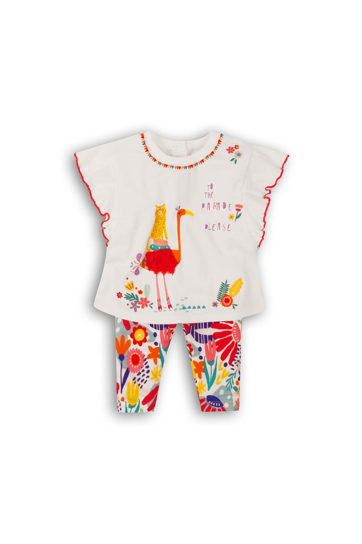 Komplet niemowlęcy -na lato bluzka i legginsy