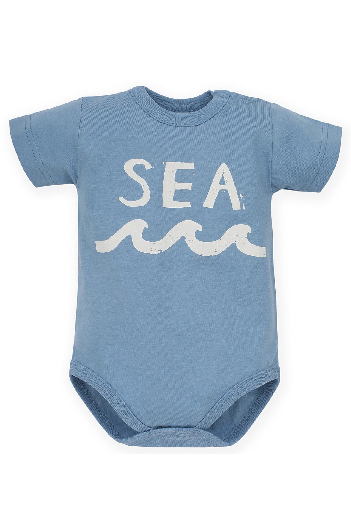 Body z krótkim rękawem niebieskie Sea