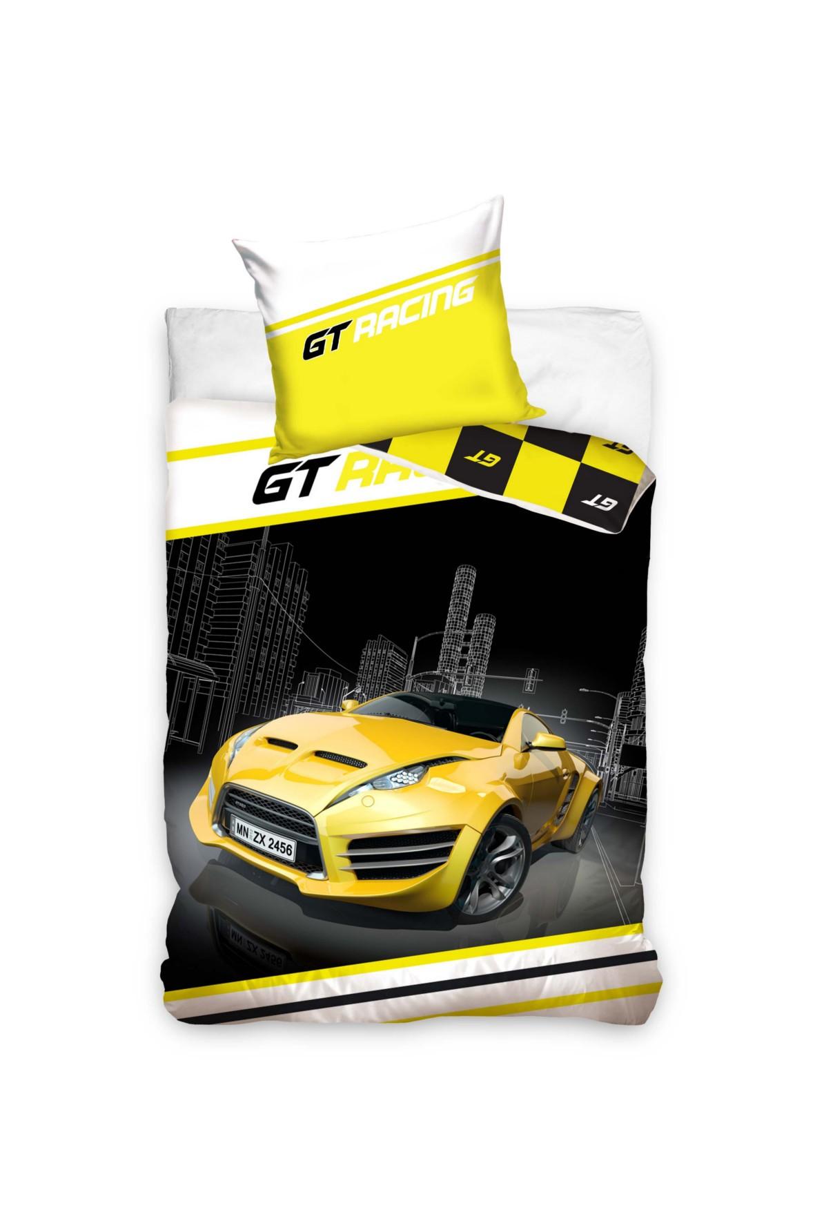 Pościel bawełna GT Racing 160x200+70x80 cm