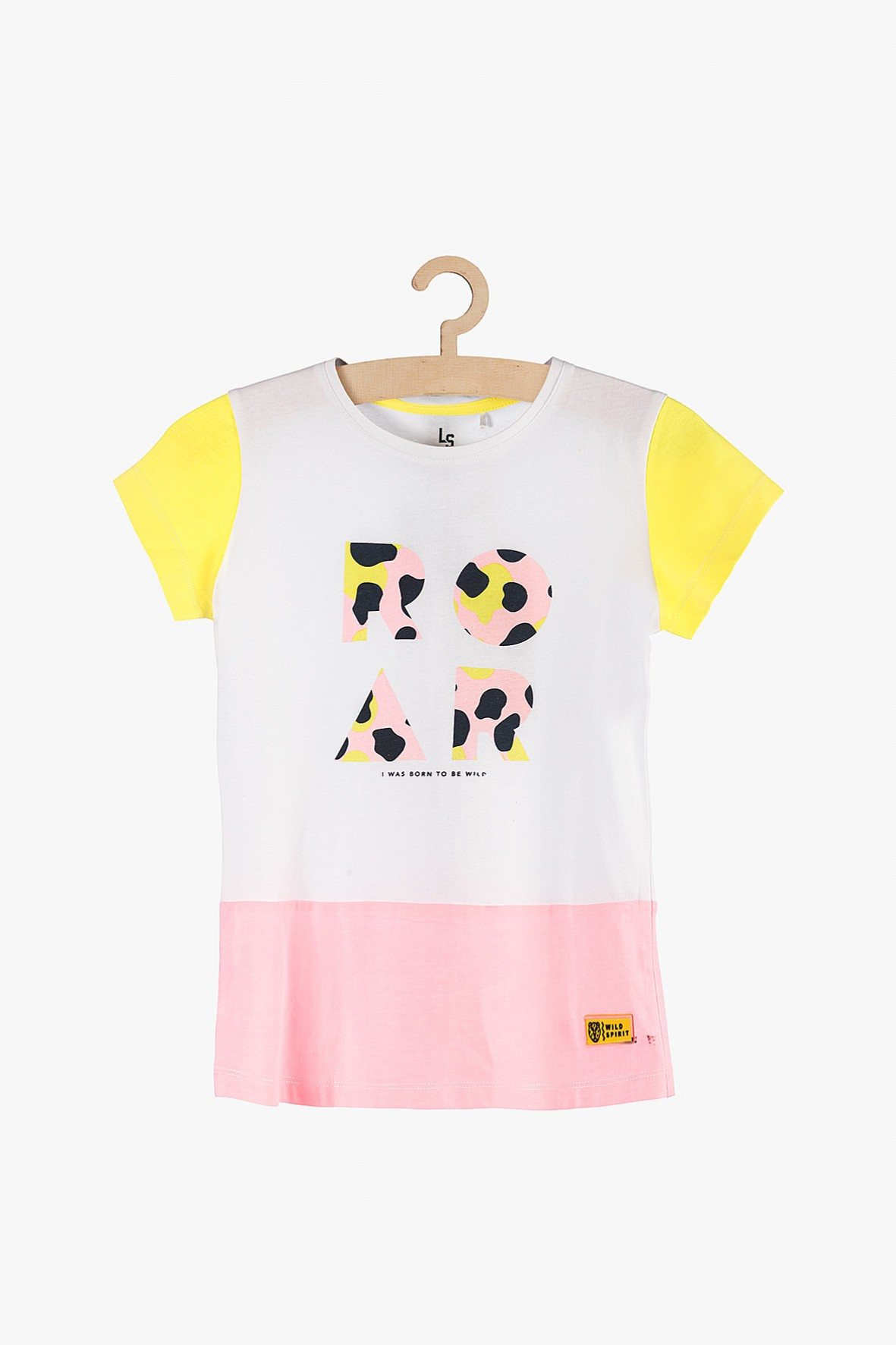 """T-shirt dziewczęcy biały """"Roar""""- Safari"""
