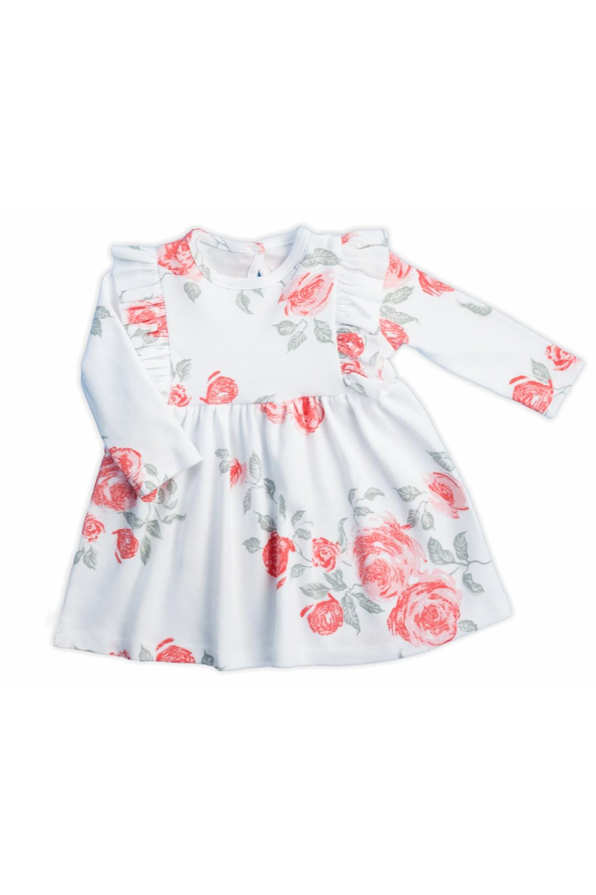 Bawełniana sukienka z kolekcji Róża - długi rękaw