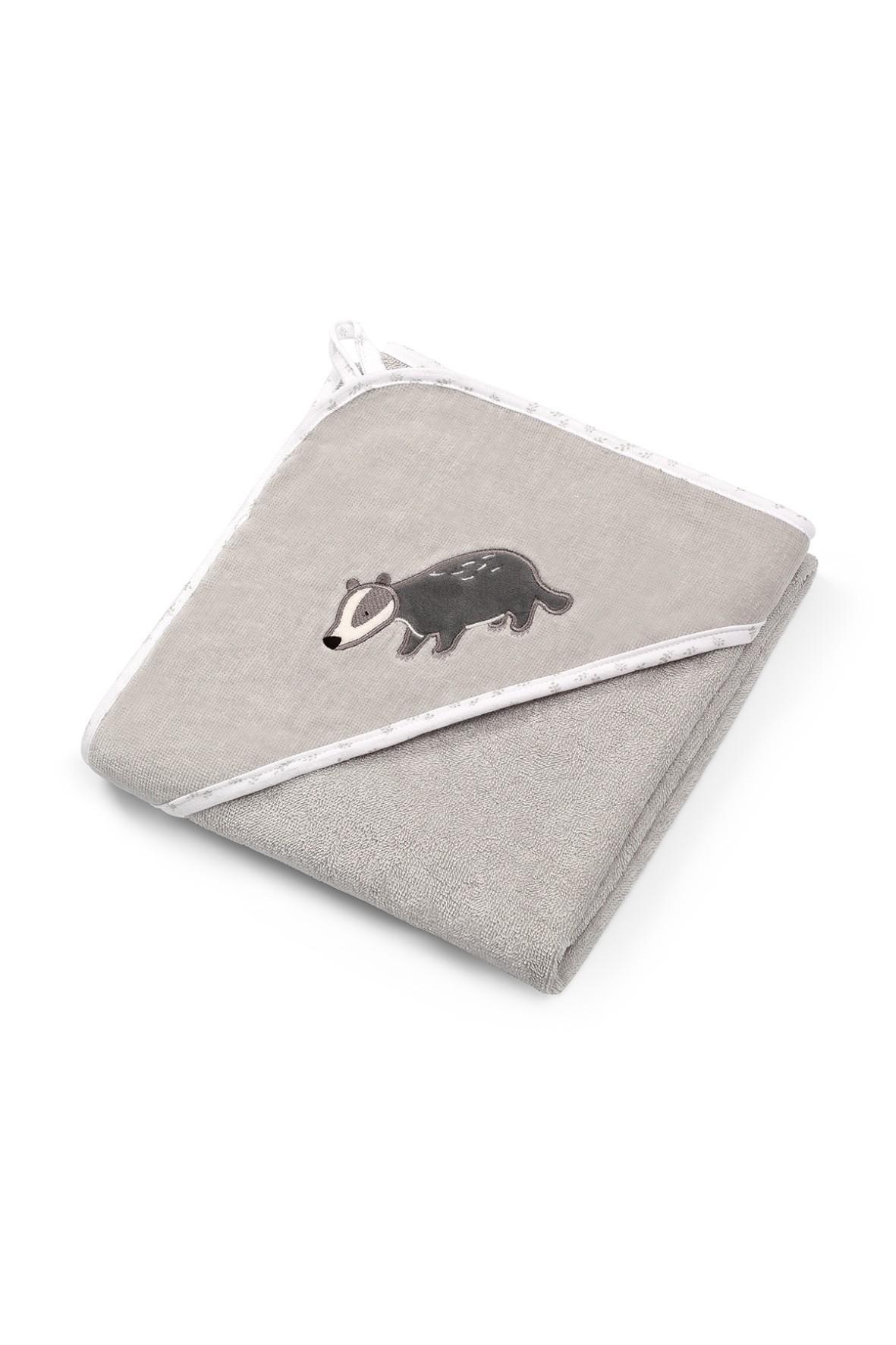 Okrycie kąpielowe bawełnian – ręcznik z kapturkiem 76x76cm