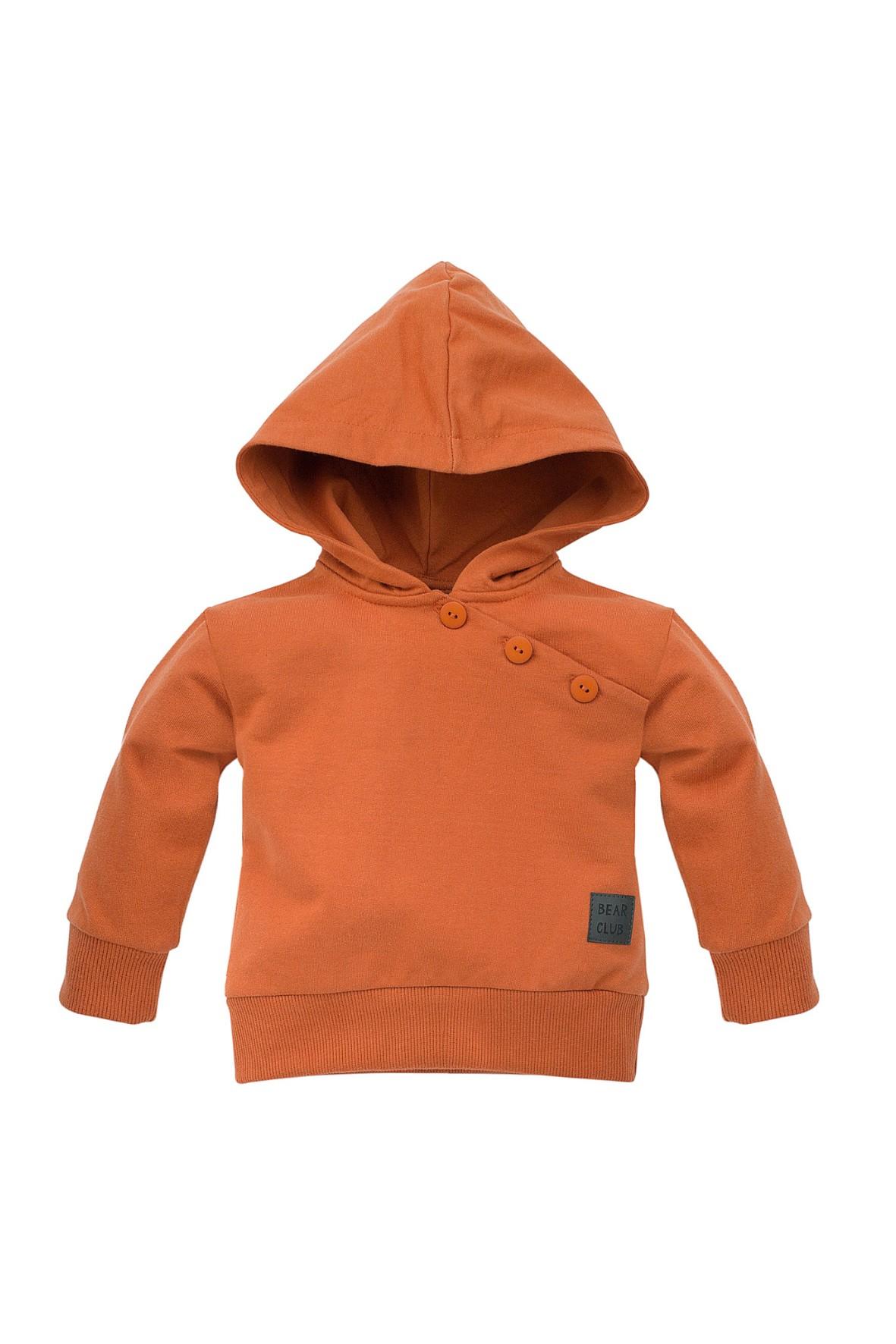 Bluza z kapturem Bears Club pomarańczowa