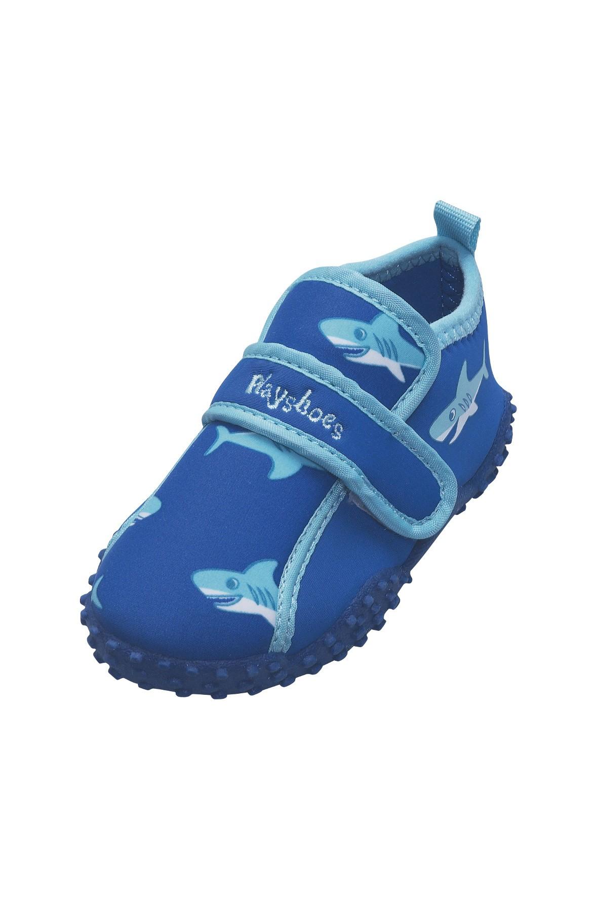 Buty kąpielowe z filtrem UV- niebieskie w rekiny