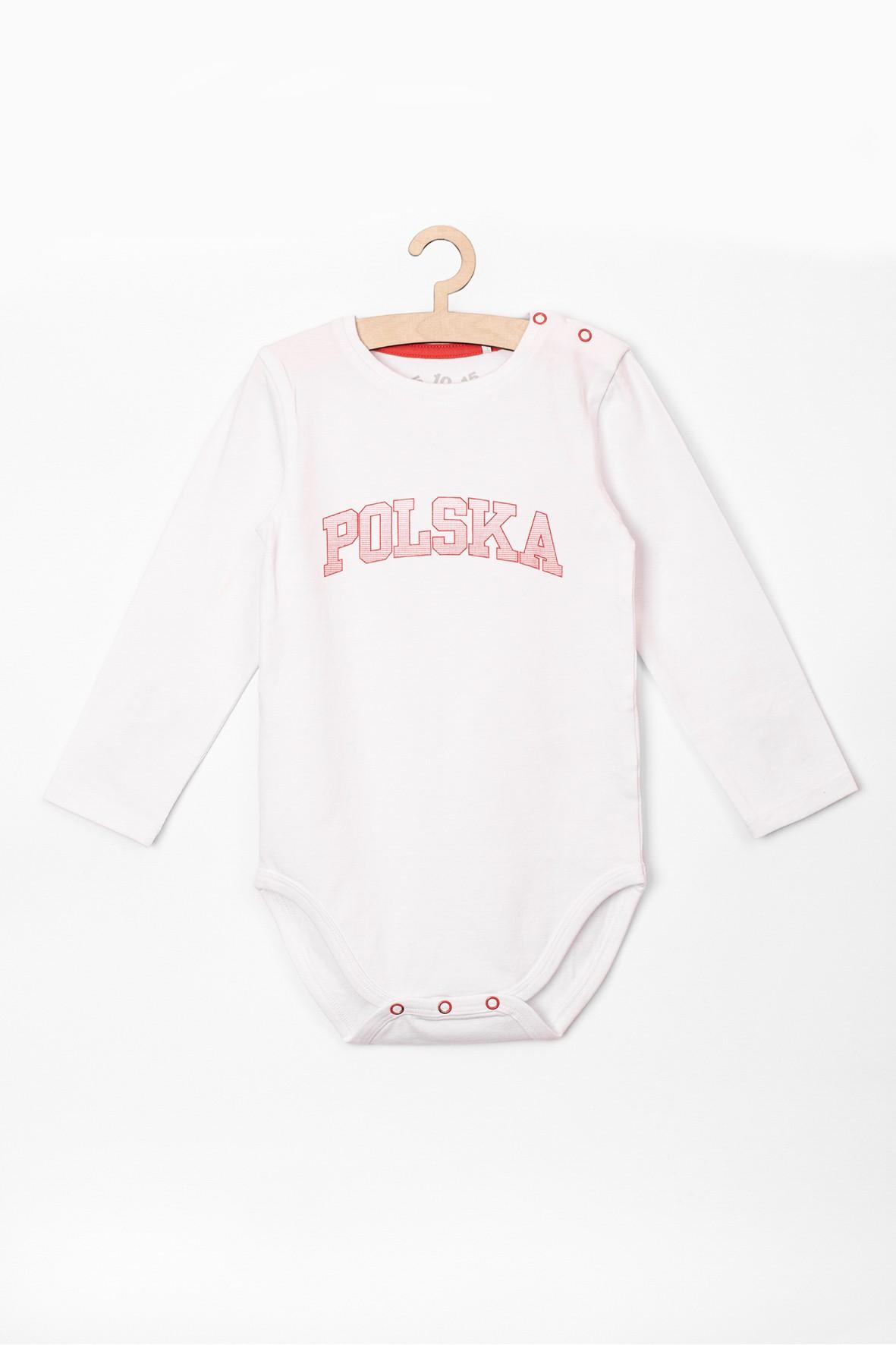 Body niemowlęce białe z napisem - POLSKA