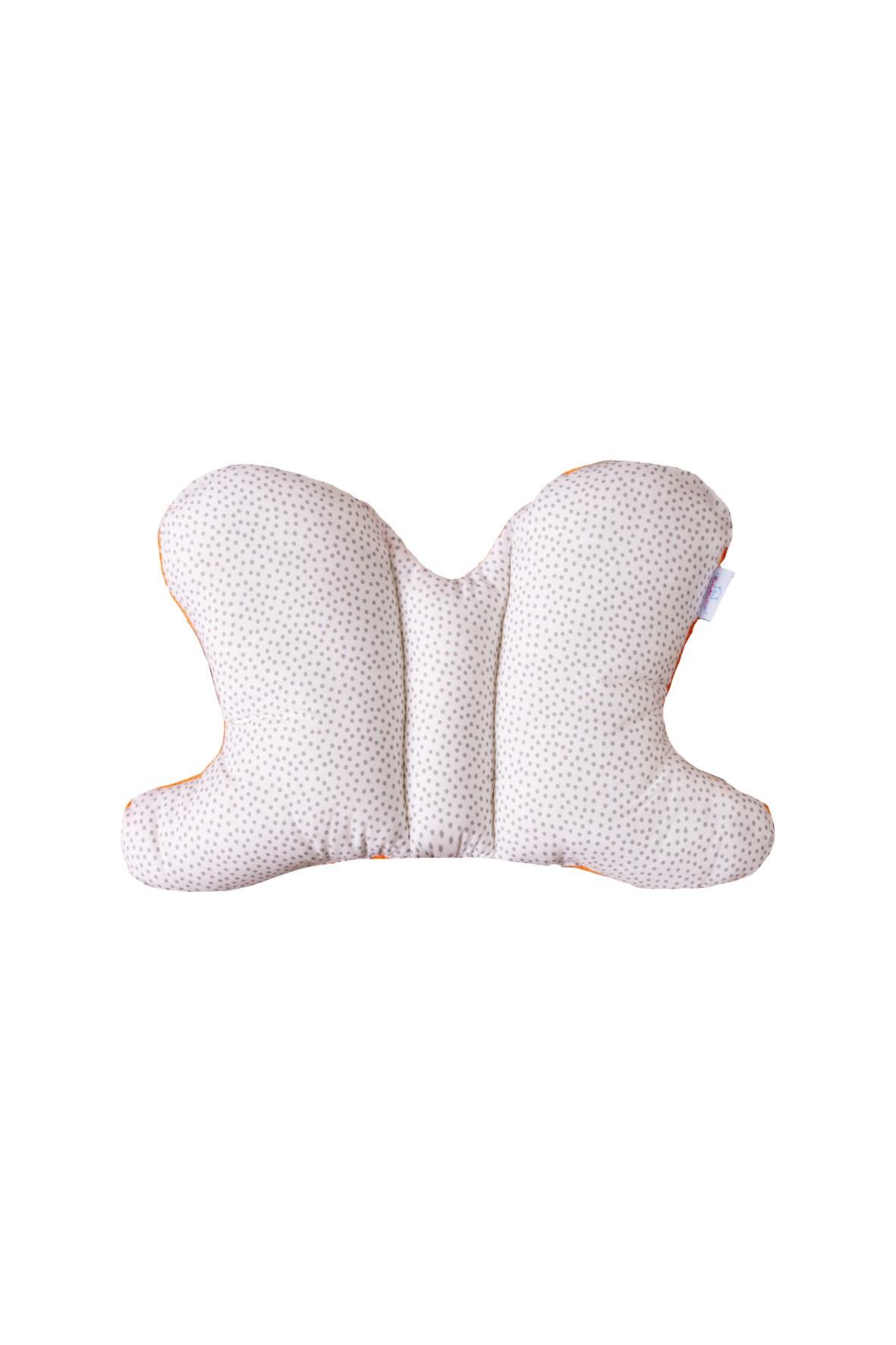 Poduszka pozycjonująca motylek- biała z kropki