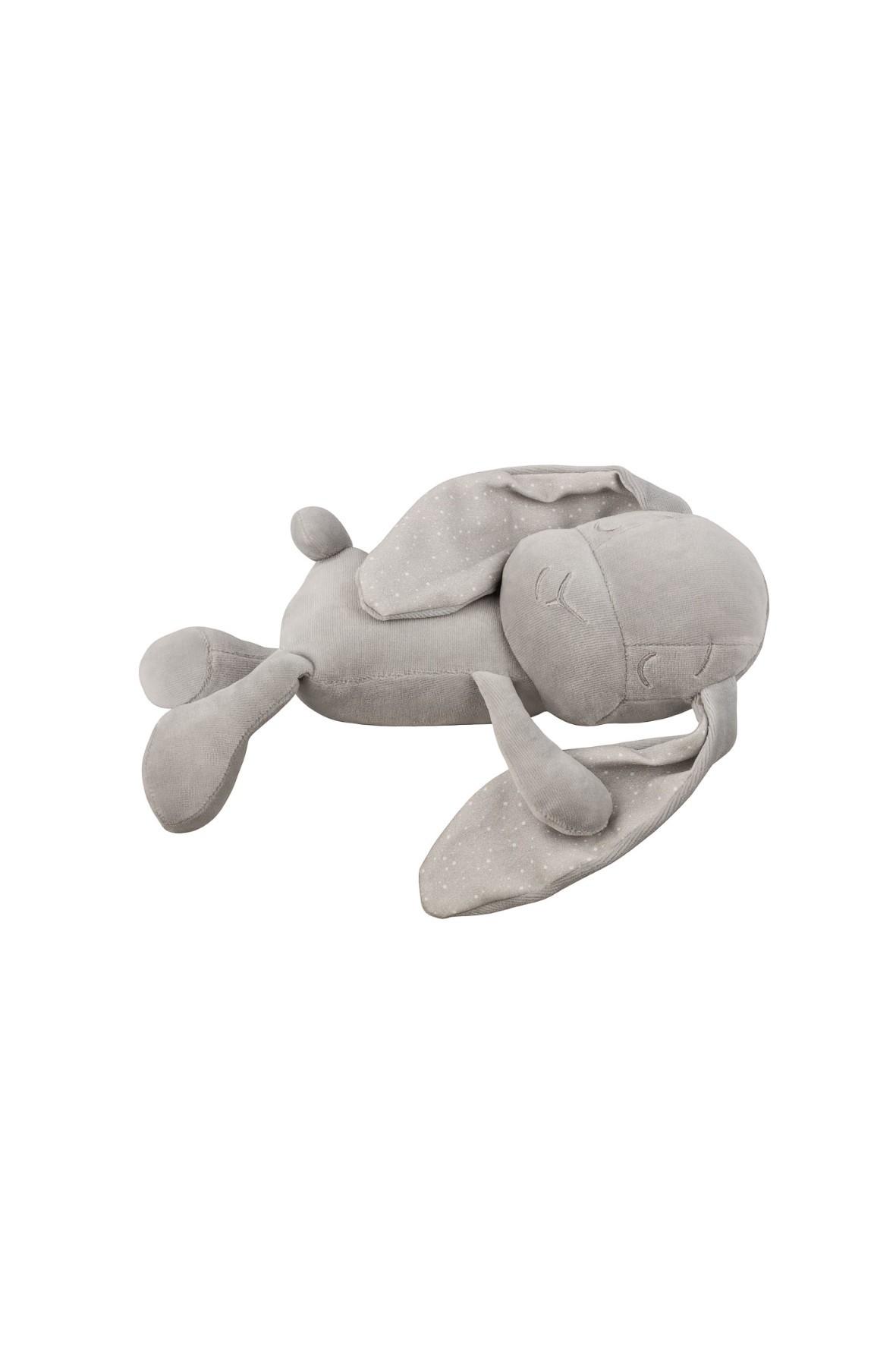 Lawendowy Śpioch - królik Effik by Małgosia Socha szary w kropki
