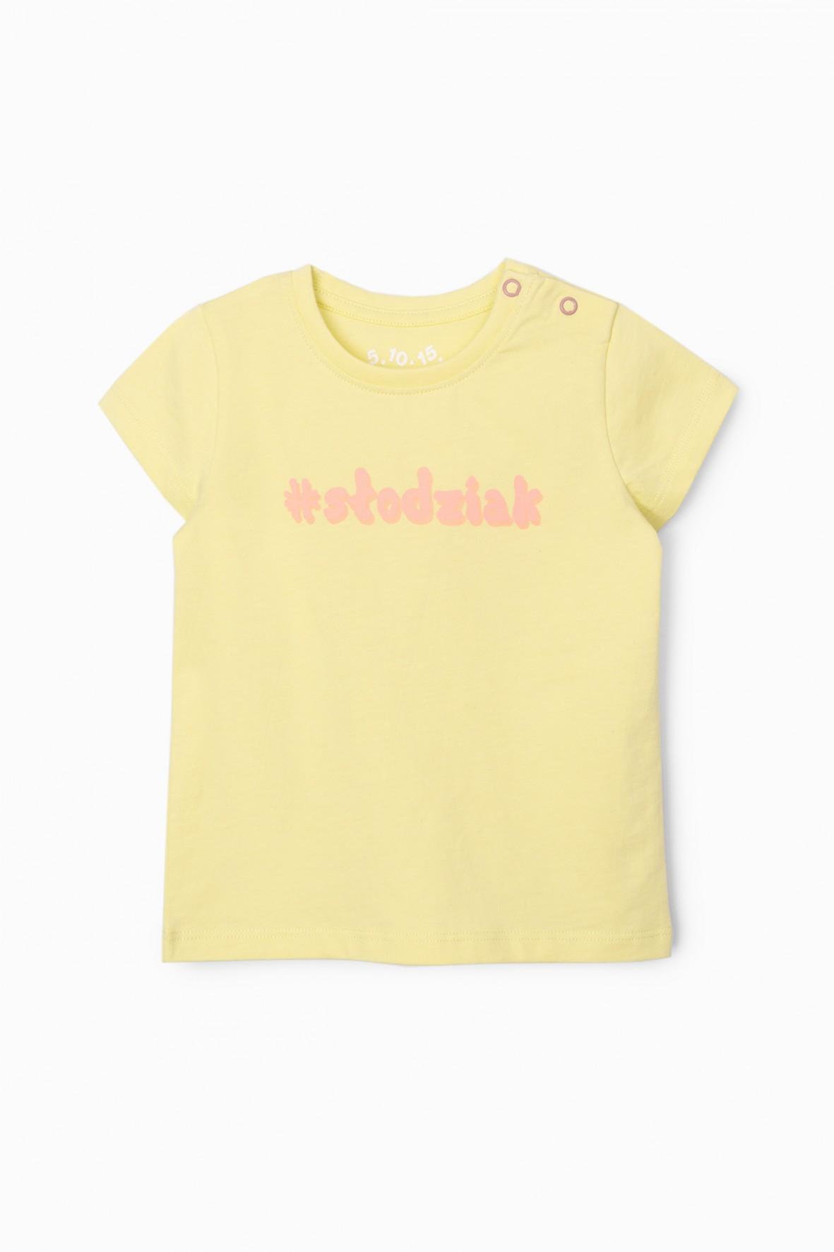 Bluzka dziewczęca z napisem Słodziak - żółta