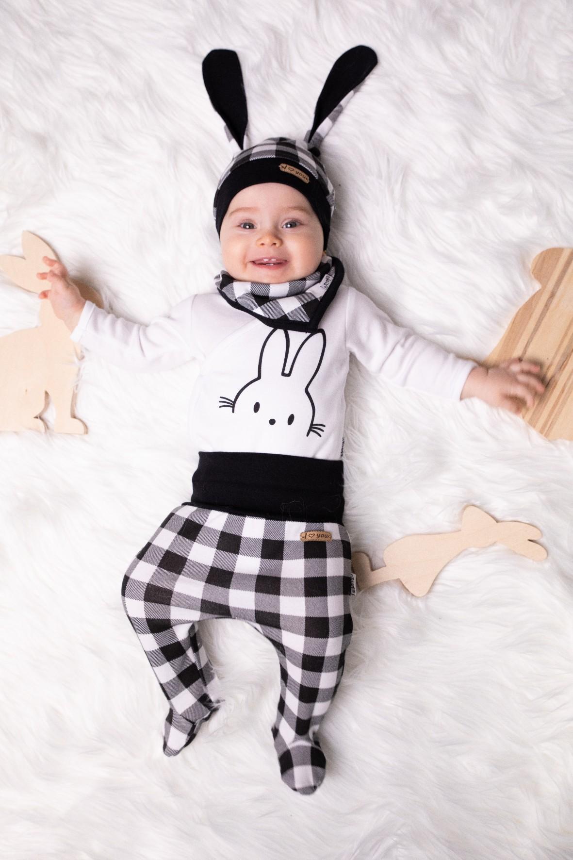 Bawełniana czapka niemowlęca z uszami