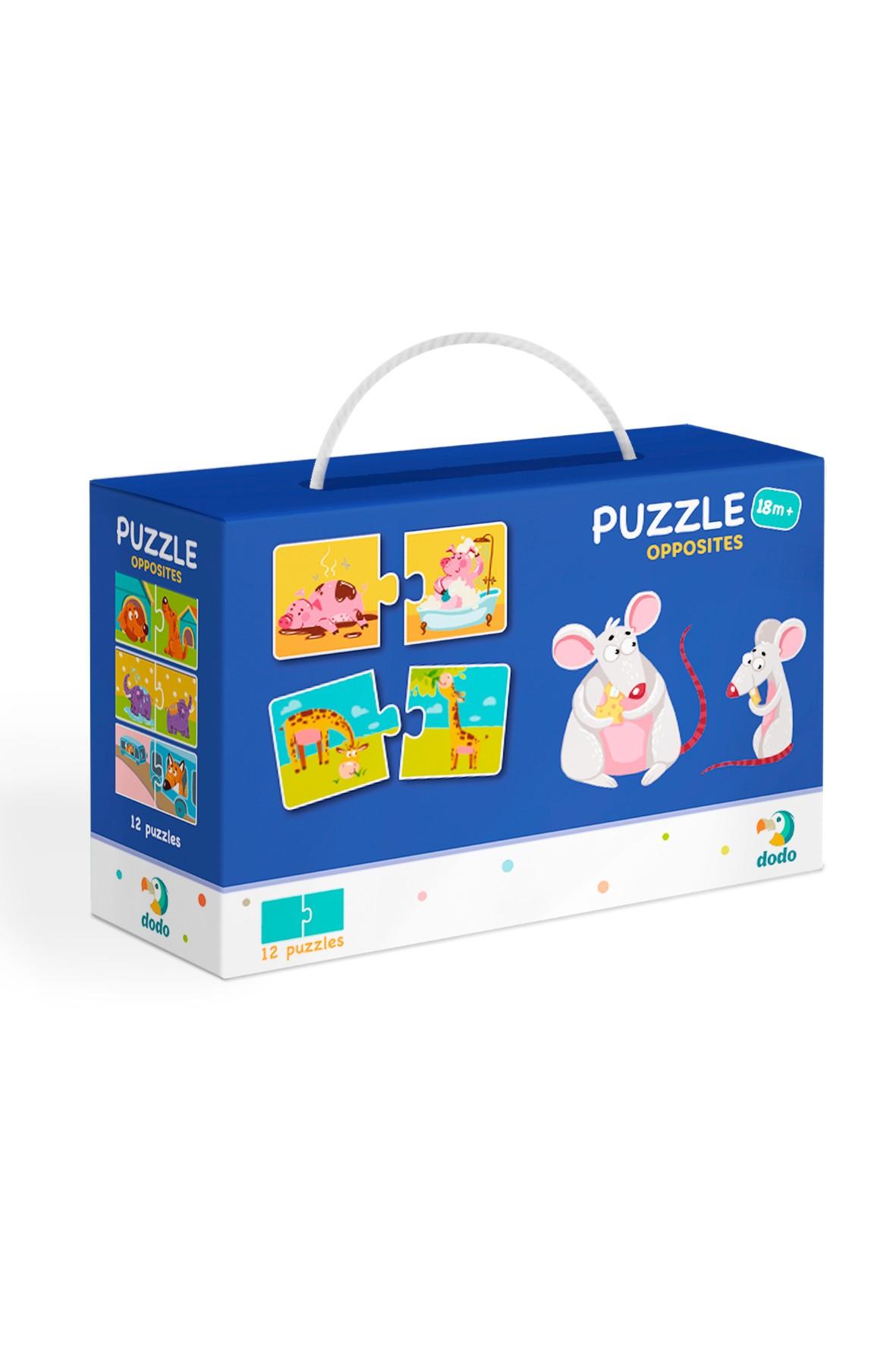 Puzzle Duo Przeciwieństwa - 12 el 18msc+