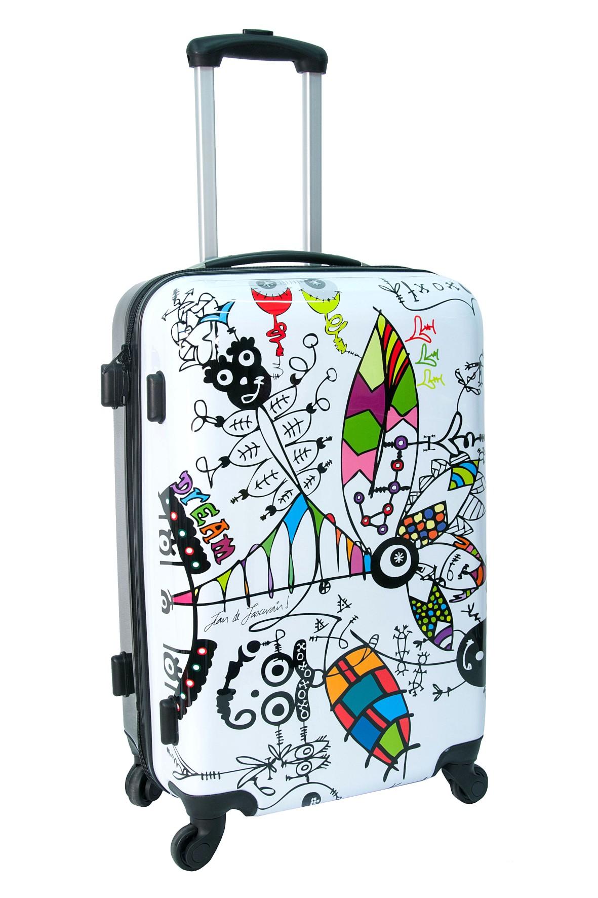 Średnia walizka PASO wzorzysta
