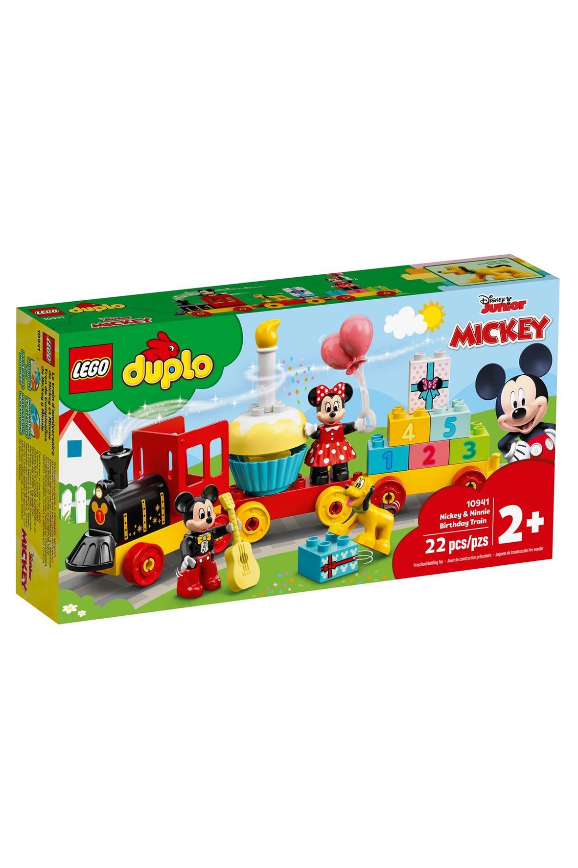 Lego DUPLO 10941 - Urodzinowy pociąg myszek Miki i Minnie - 22 elementy wiek 2+