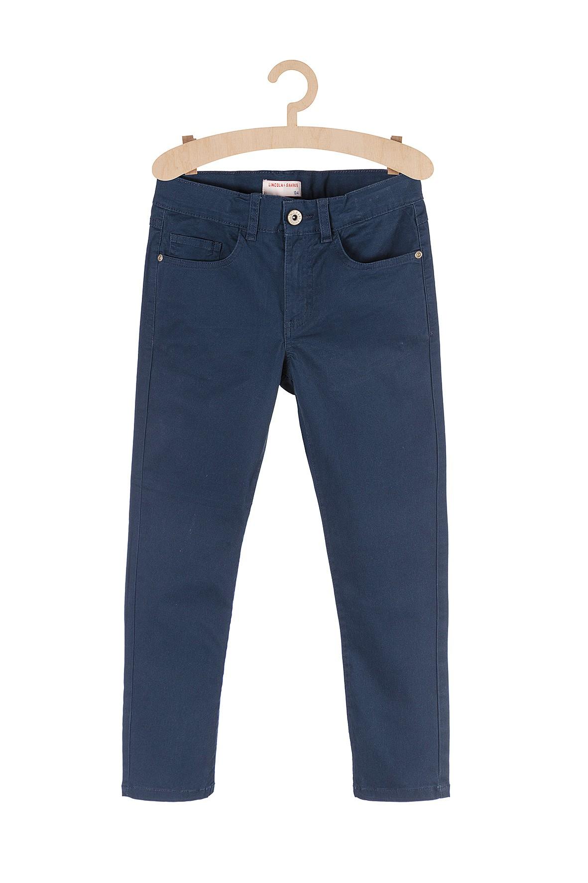 Spodnie dla chłopca klasyczne granatowe
