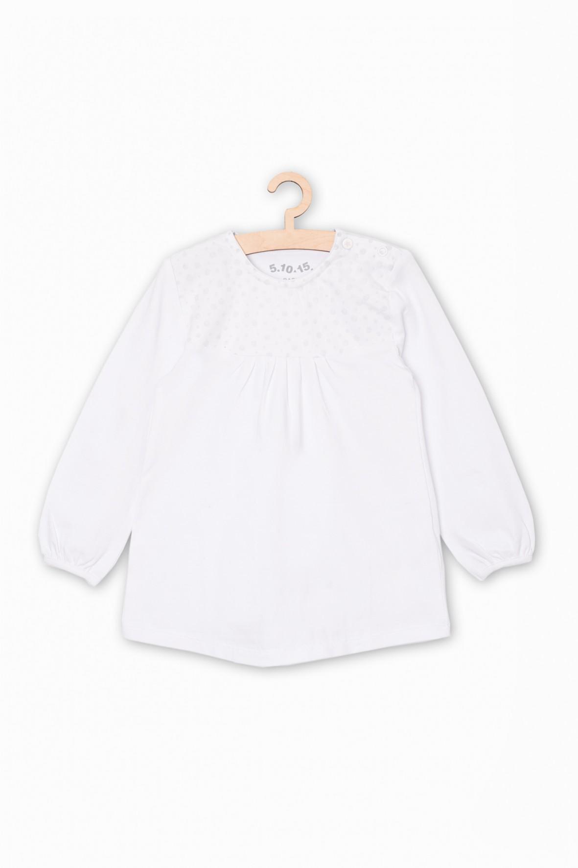Biała bluzka dla niemowlaka- długi rękaw