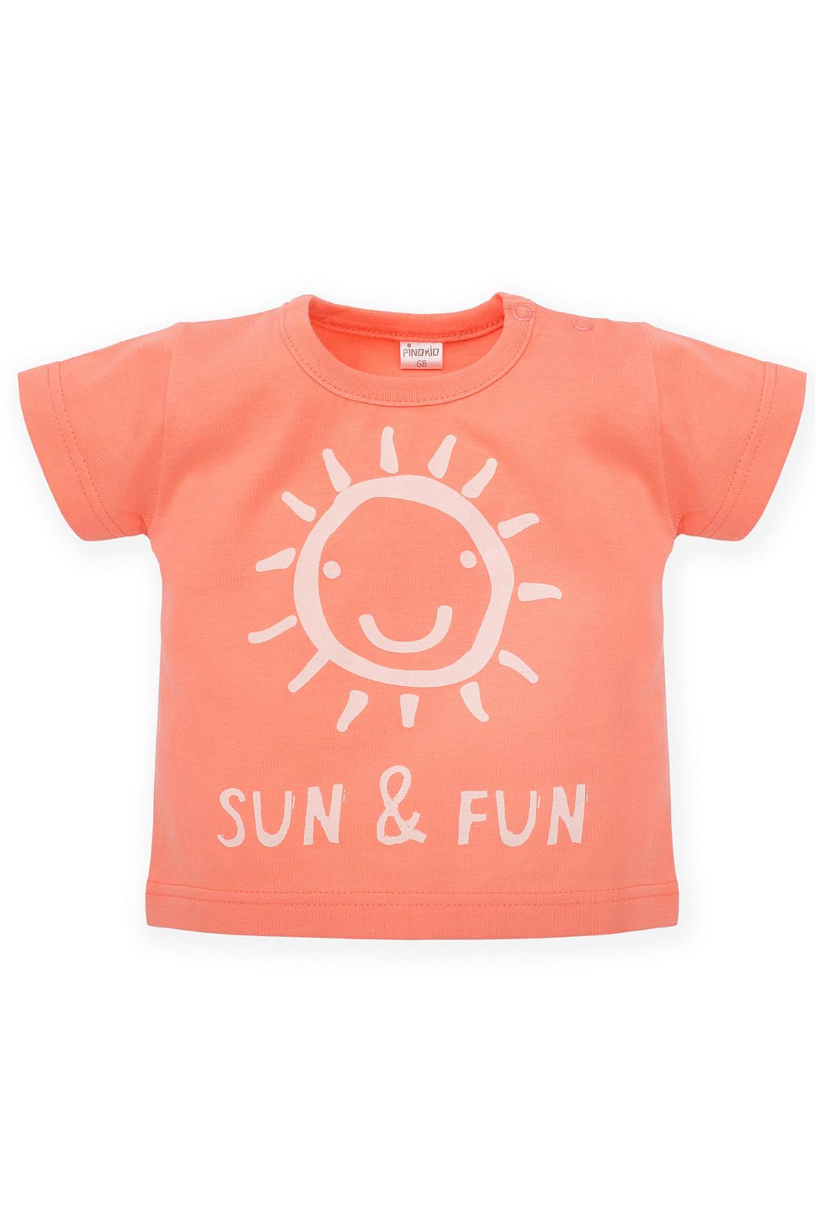 T-Shirt niemowlęcy pomarańczowy