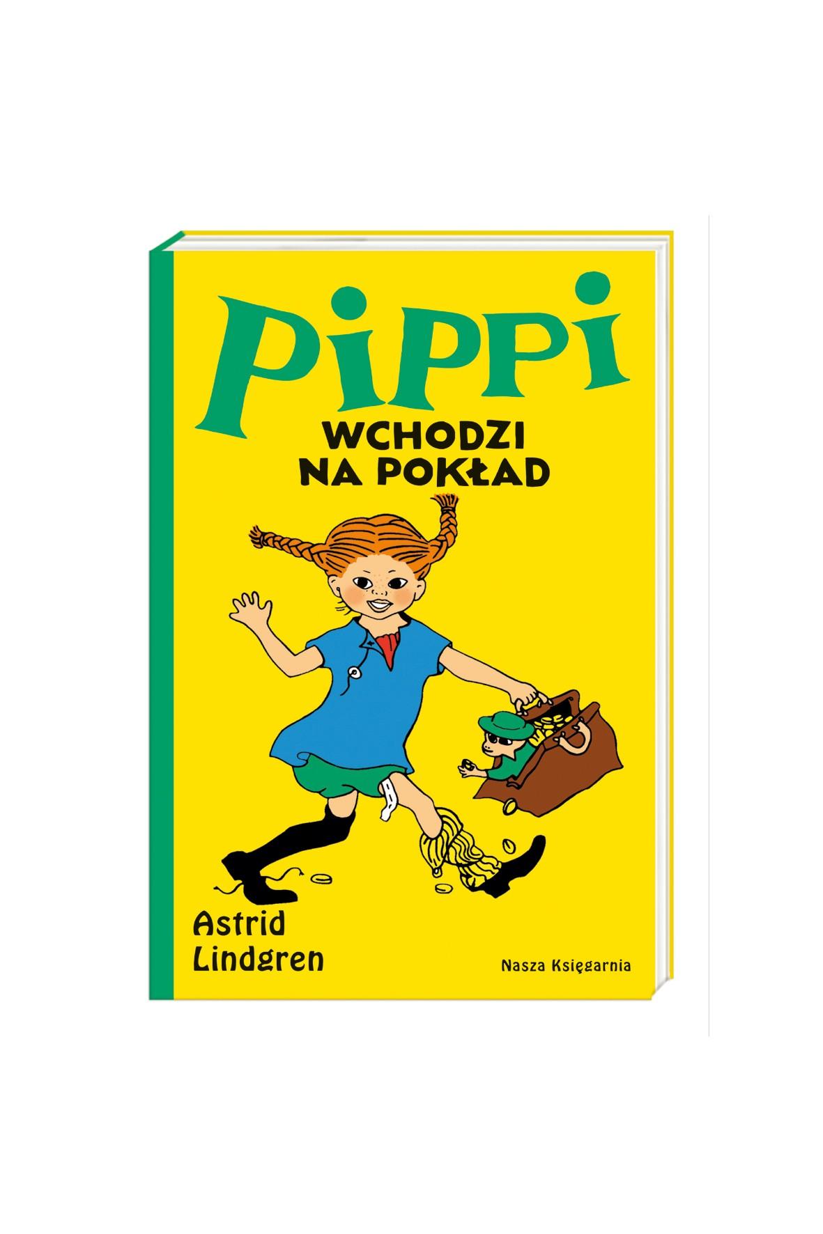 """Książka dla dzieci """"Pippi wchodzi na pokład"""""""