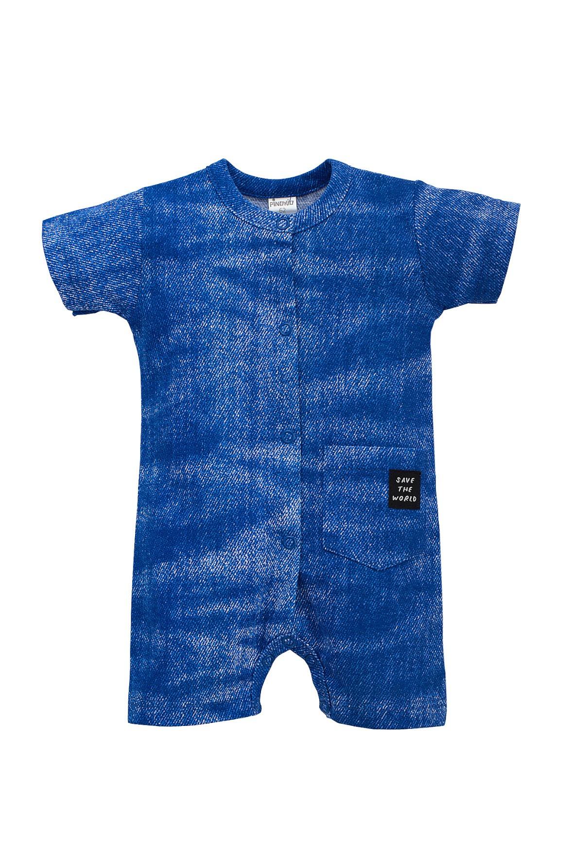 Rampers chłopięcy niebieski- imitacja jeansu