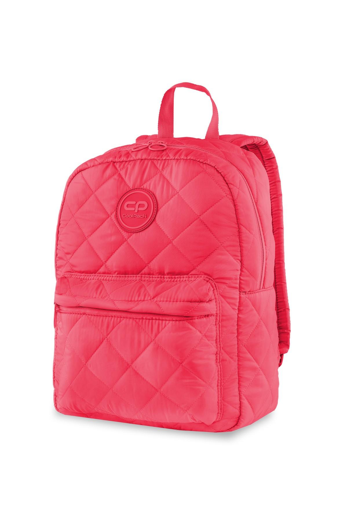 Plecak dla dziewczynki Ruby Coral Touch- pikowany różowy