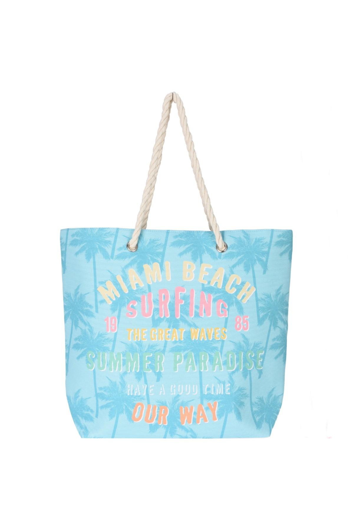 Torebka damska plażowa z wakacyjnym napisem