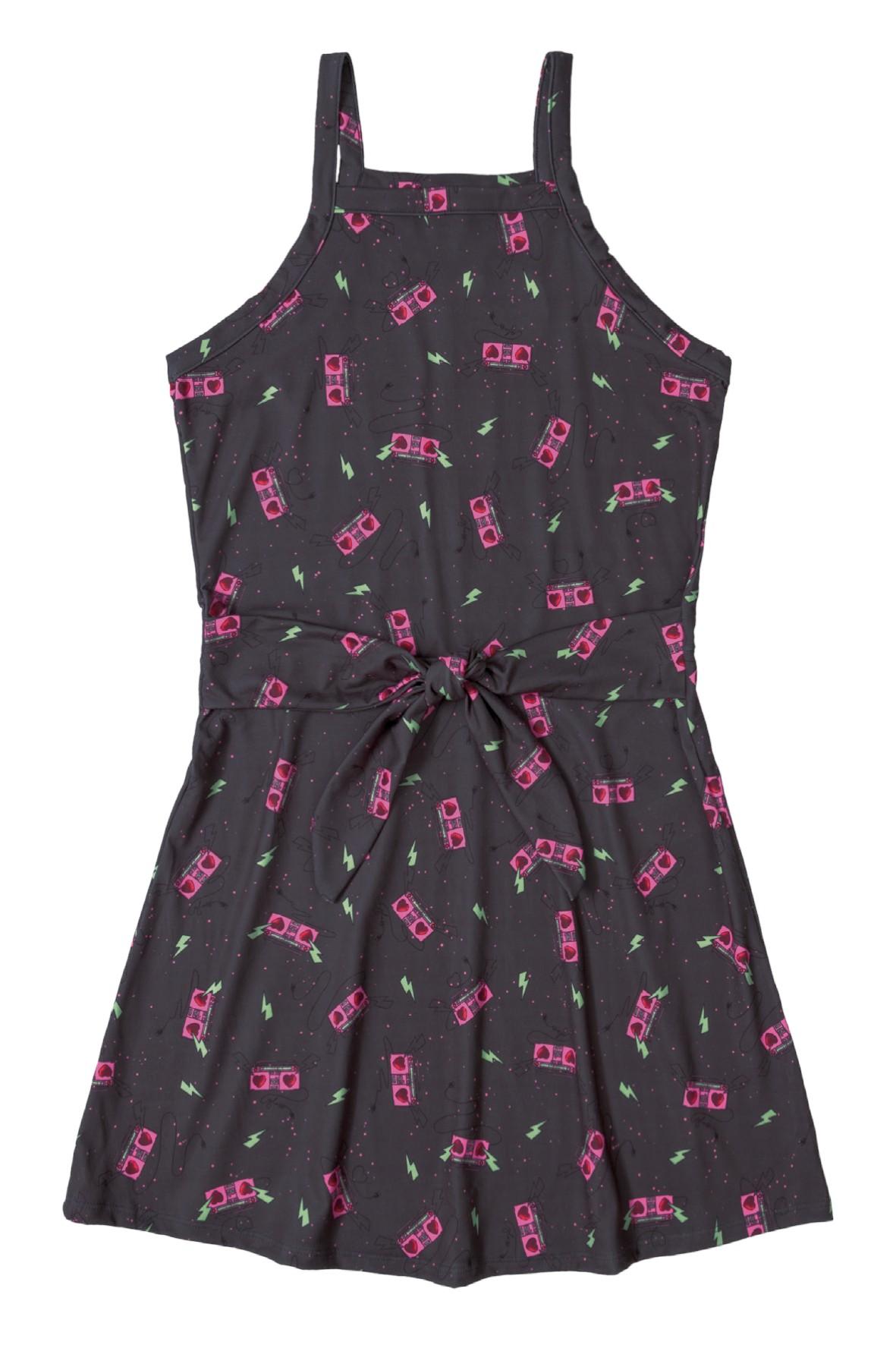 Sukienka dziewczęca w kolorowy wzór