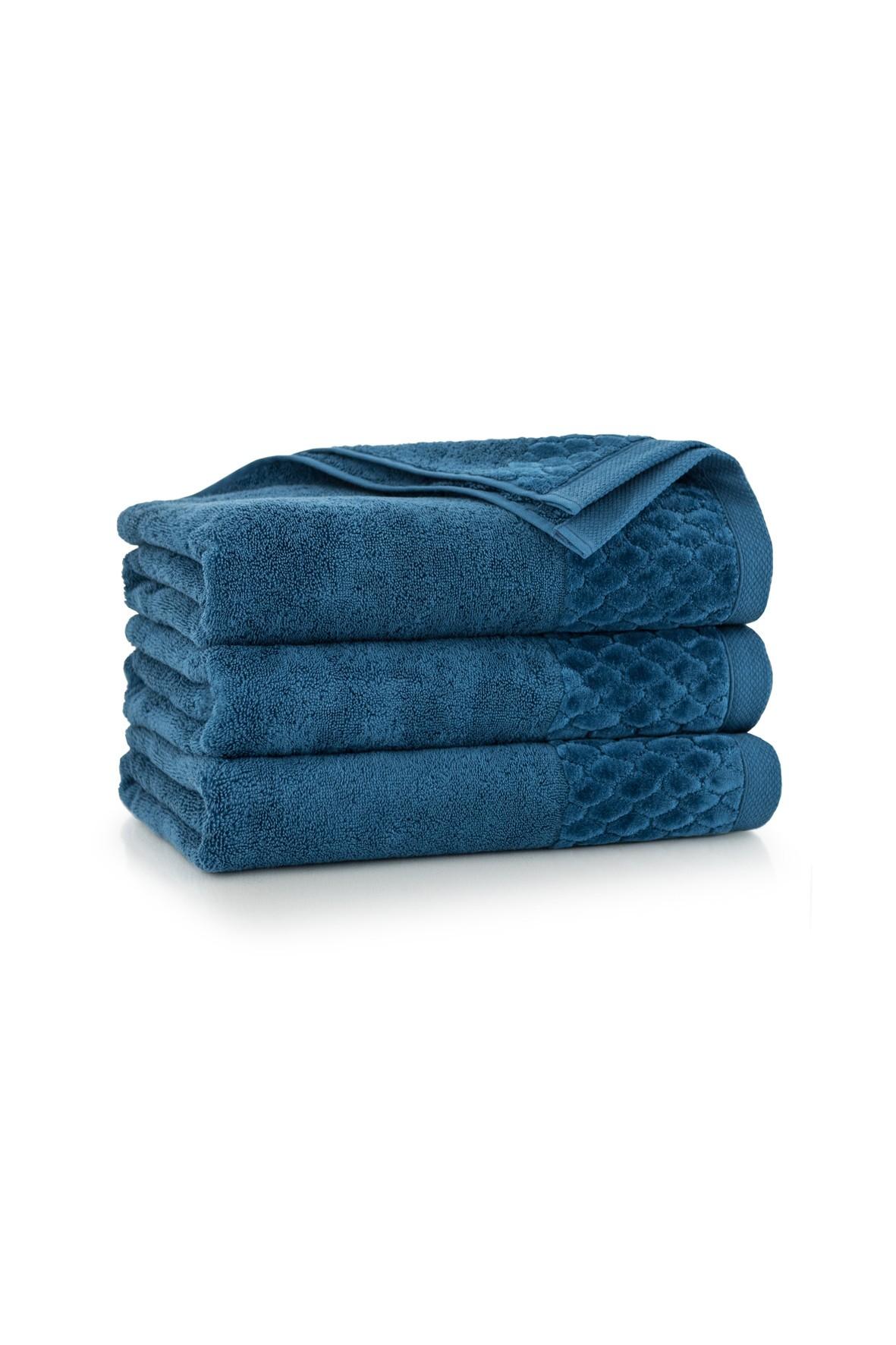 Ręcznik antybakteryjny Carlo z bawełny egipskiej tanzanit - 70x140 cm