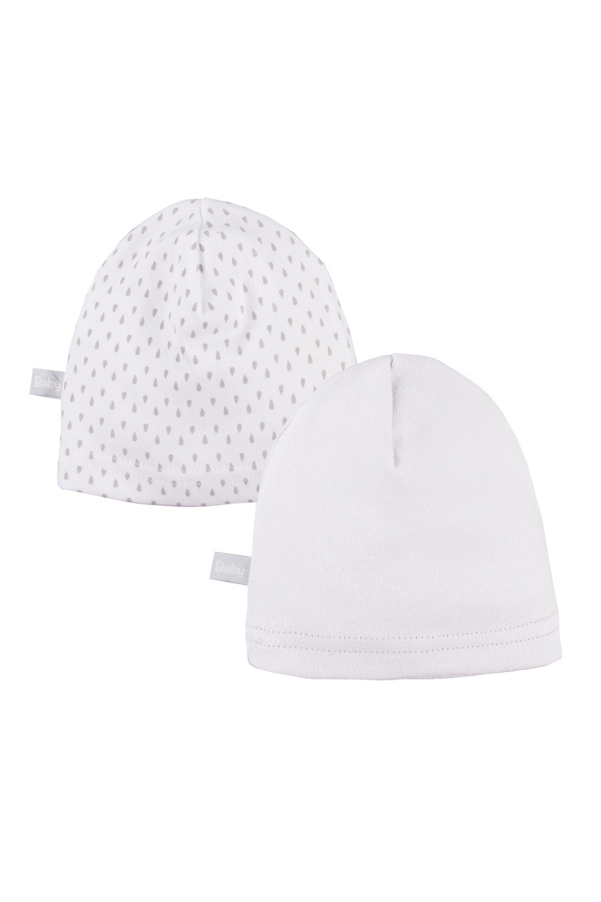 Bawełniane czapki niemowlęce smerfetka 2 - pak