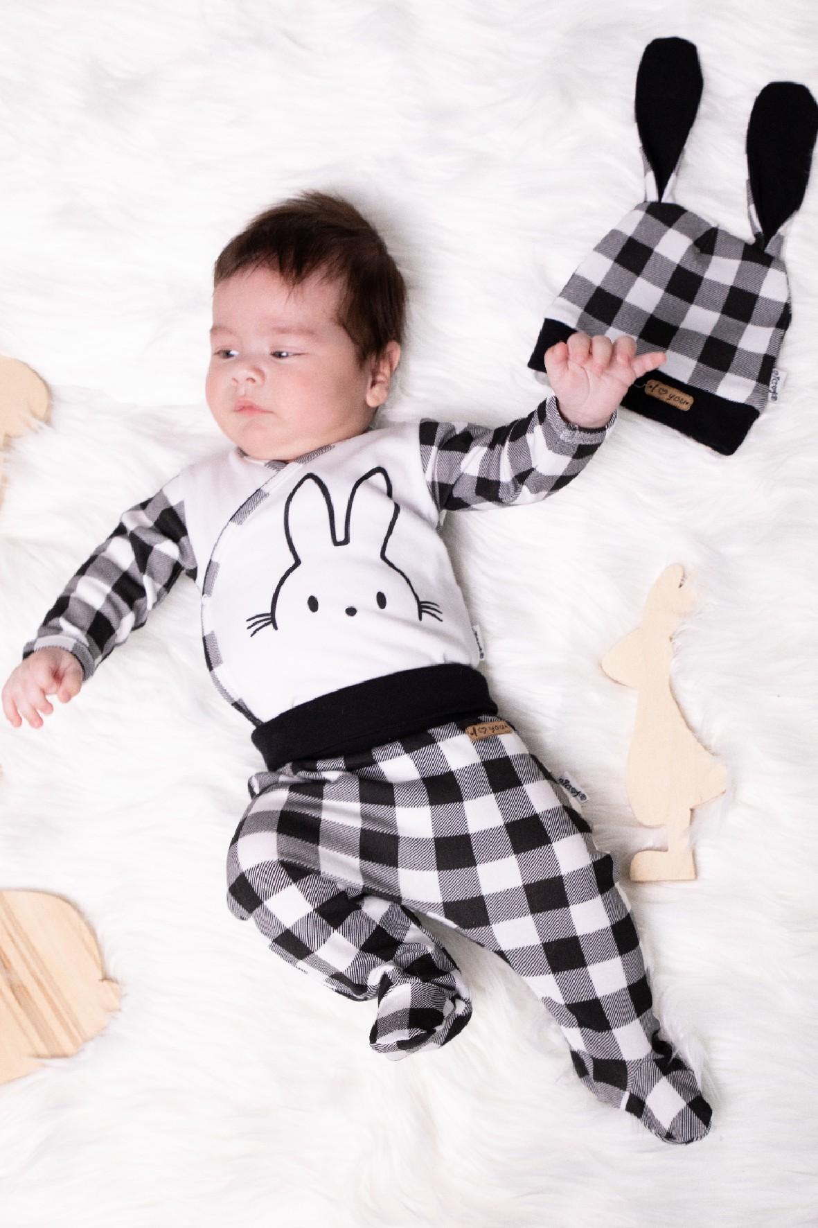 Bawełniany półśpioch niemowlęcy w kratkę