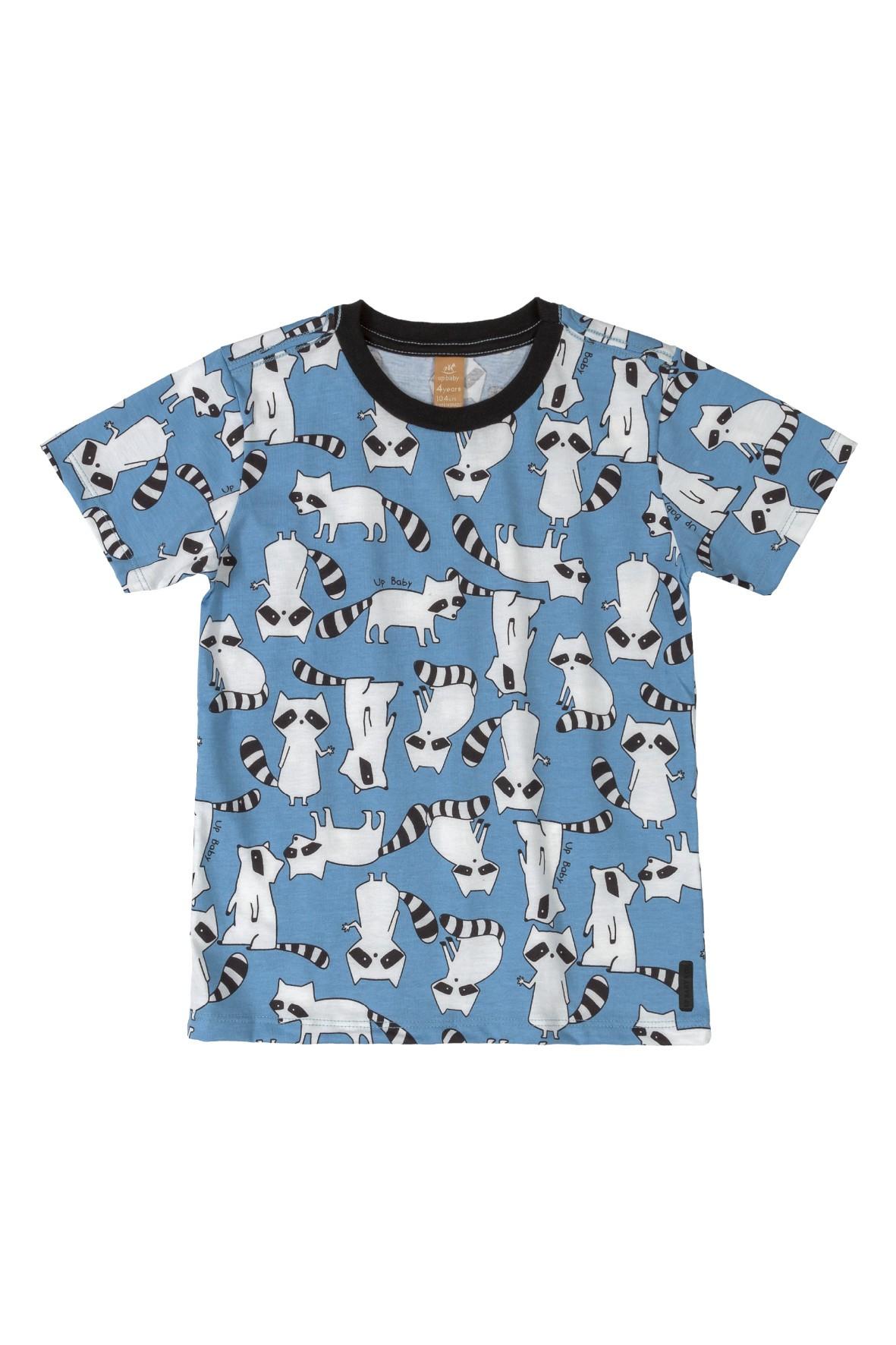Koszulka dziecięca w szopy - niebieska