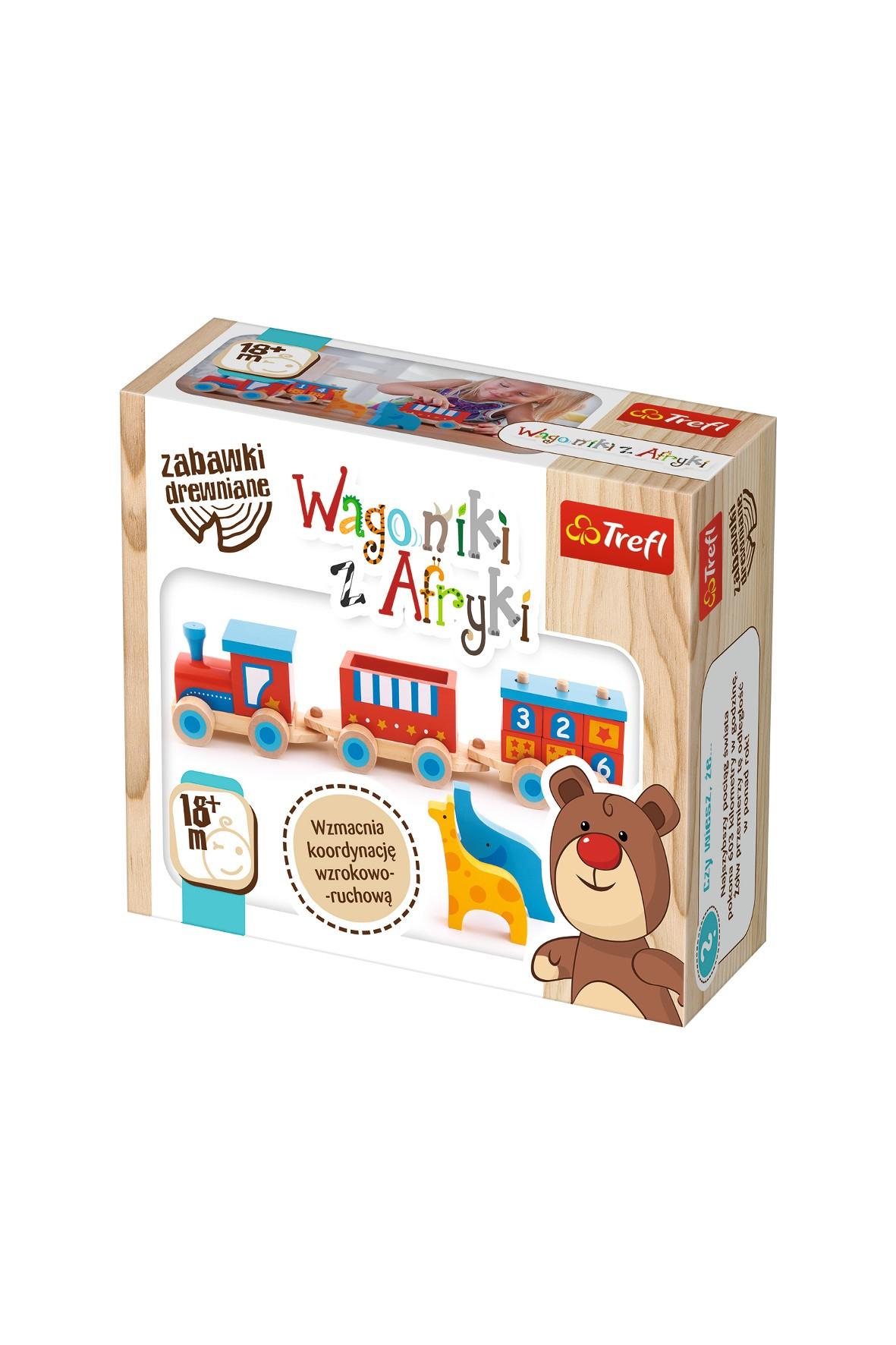 Wagoniki z Afryki Trefl -zabawka drewniana