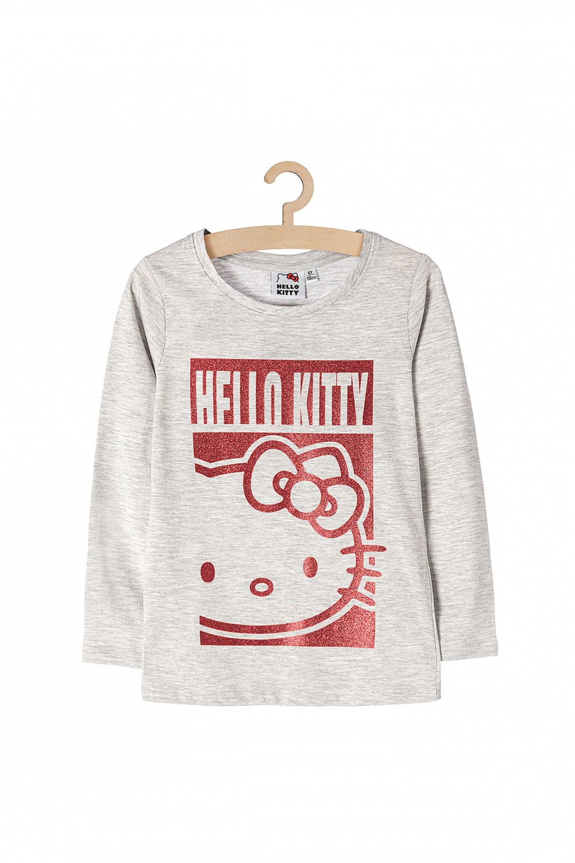 Bluzka z długim rękawem dla dziewczynki Hello Kitty- szara