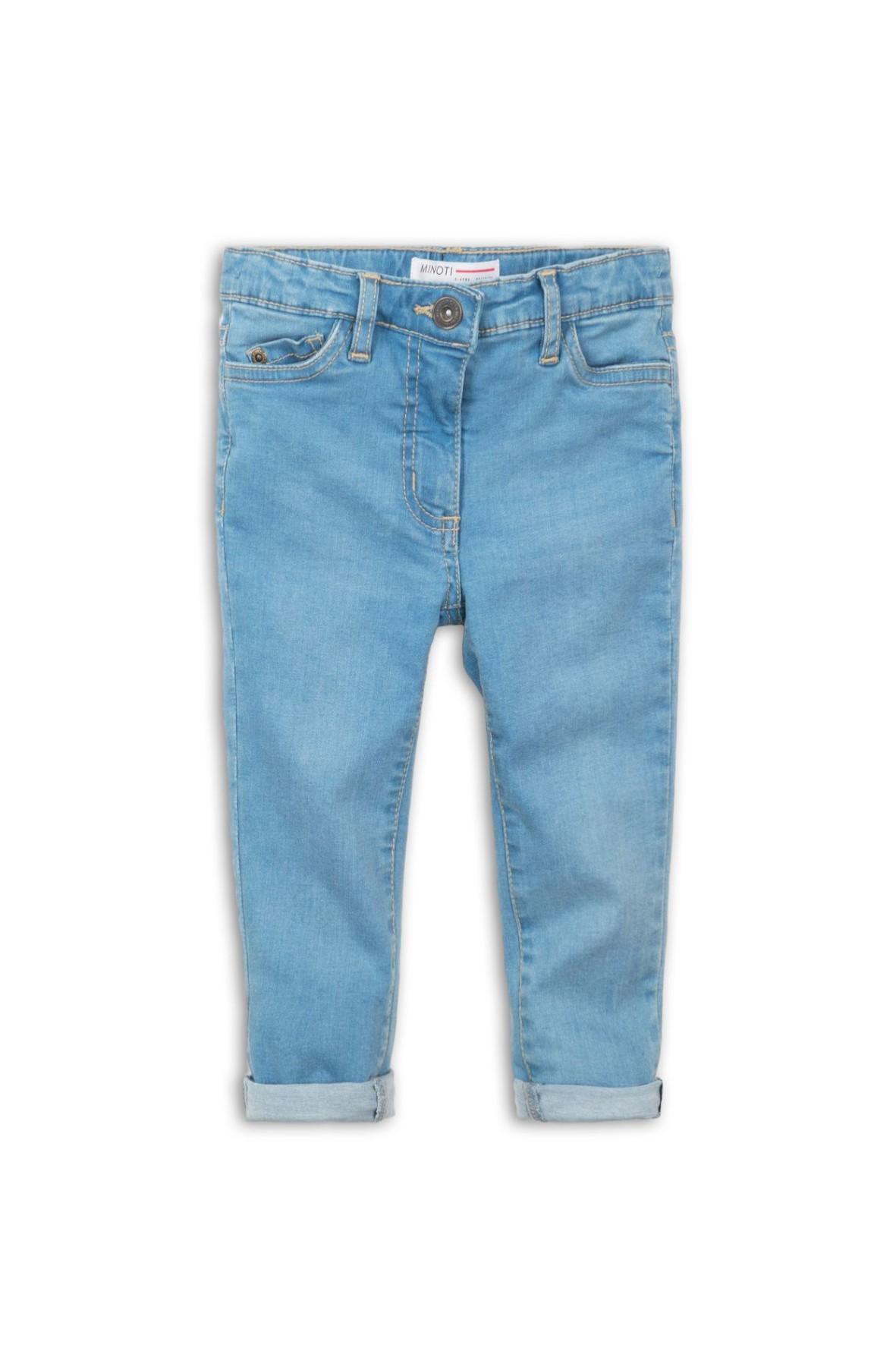 Spodnie dziewczęce jeansowe- niebieskie rozm 92/98