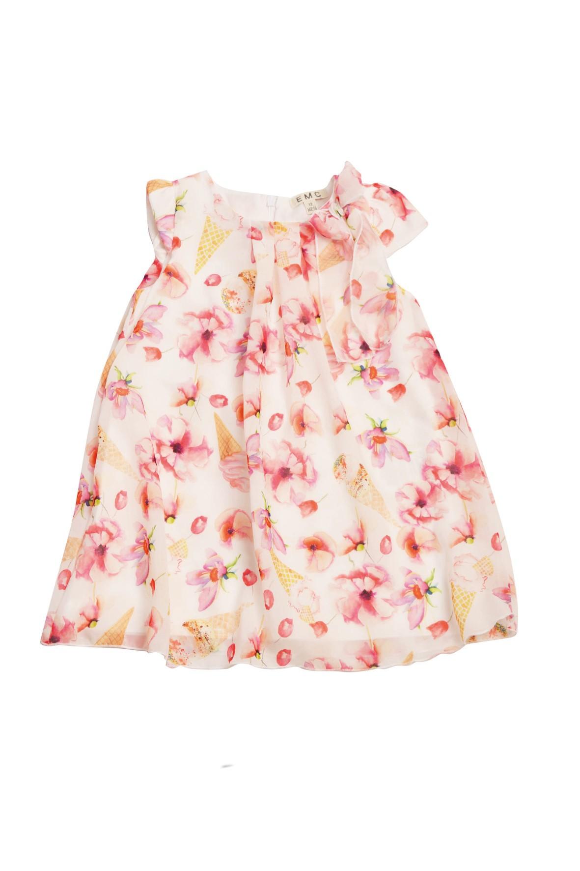 Sukienka dziewczęca w kolorowe kwiaty