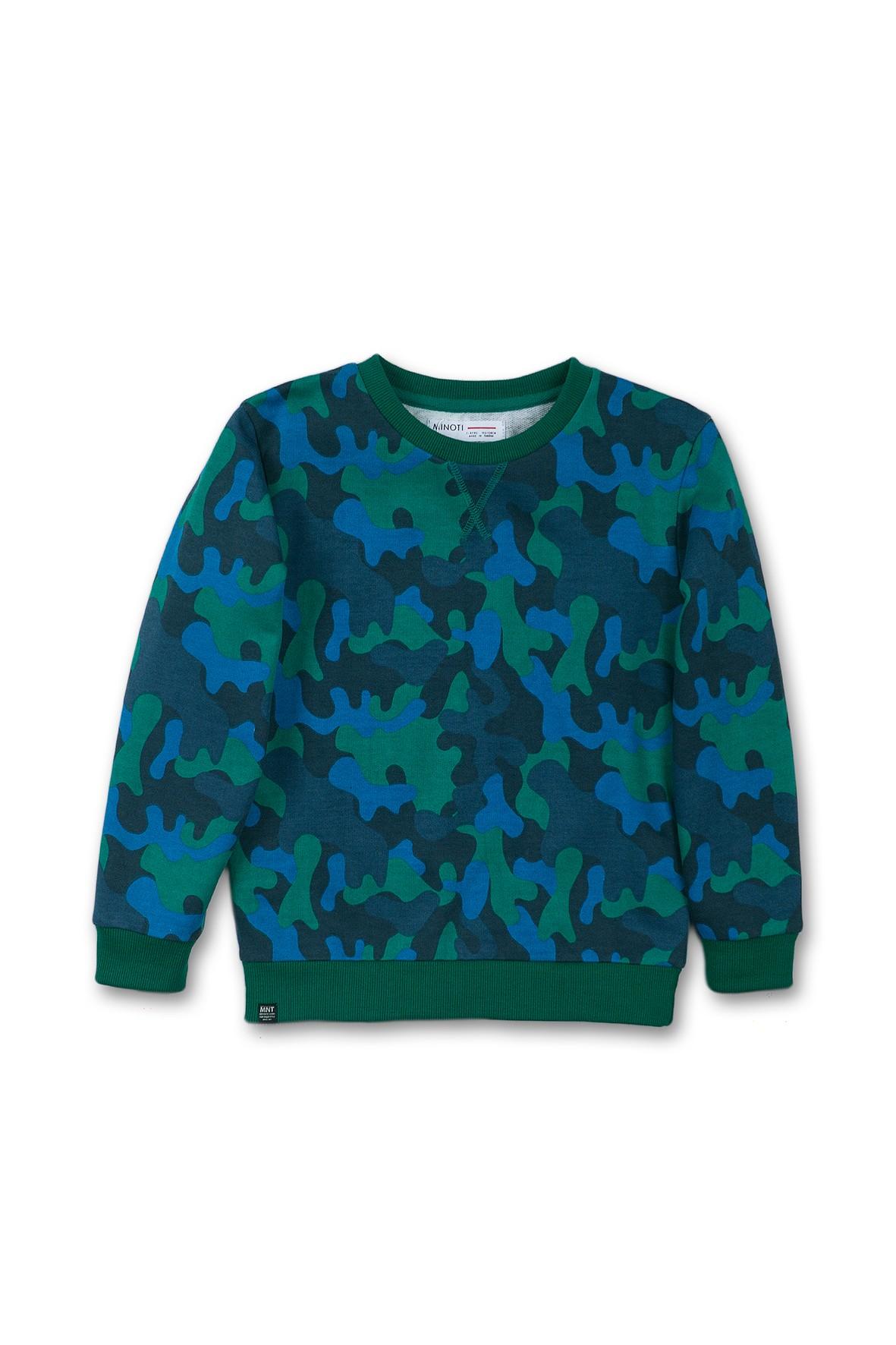 Niemowlęca bluza moro - niebieska