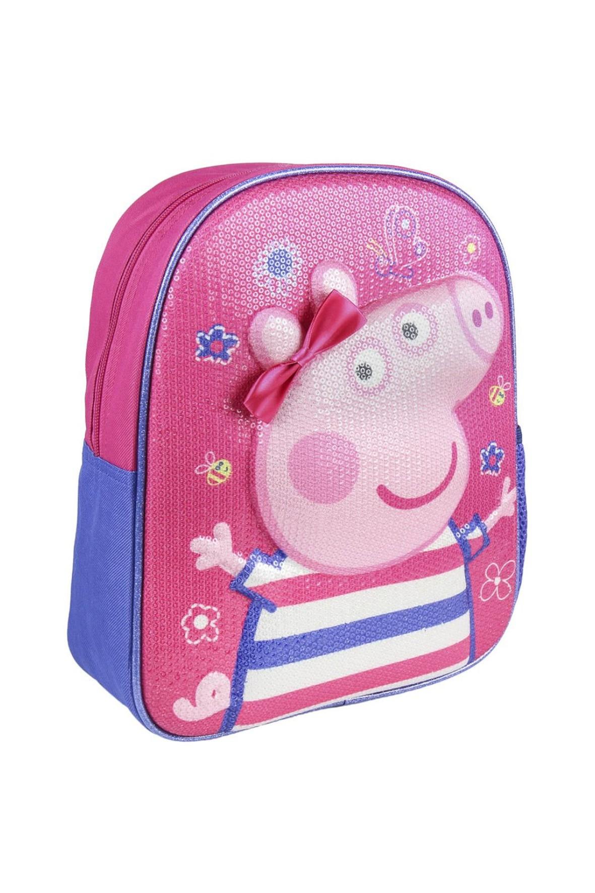 Plecak dla dziewczynki 3D premium Peppa - różowy