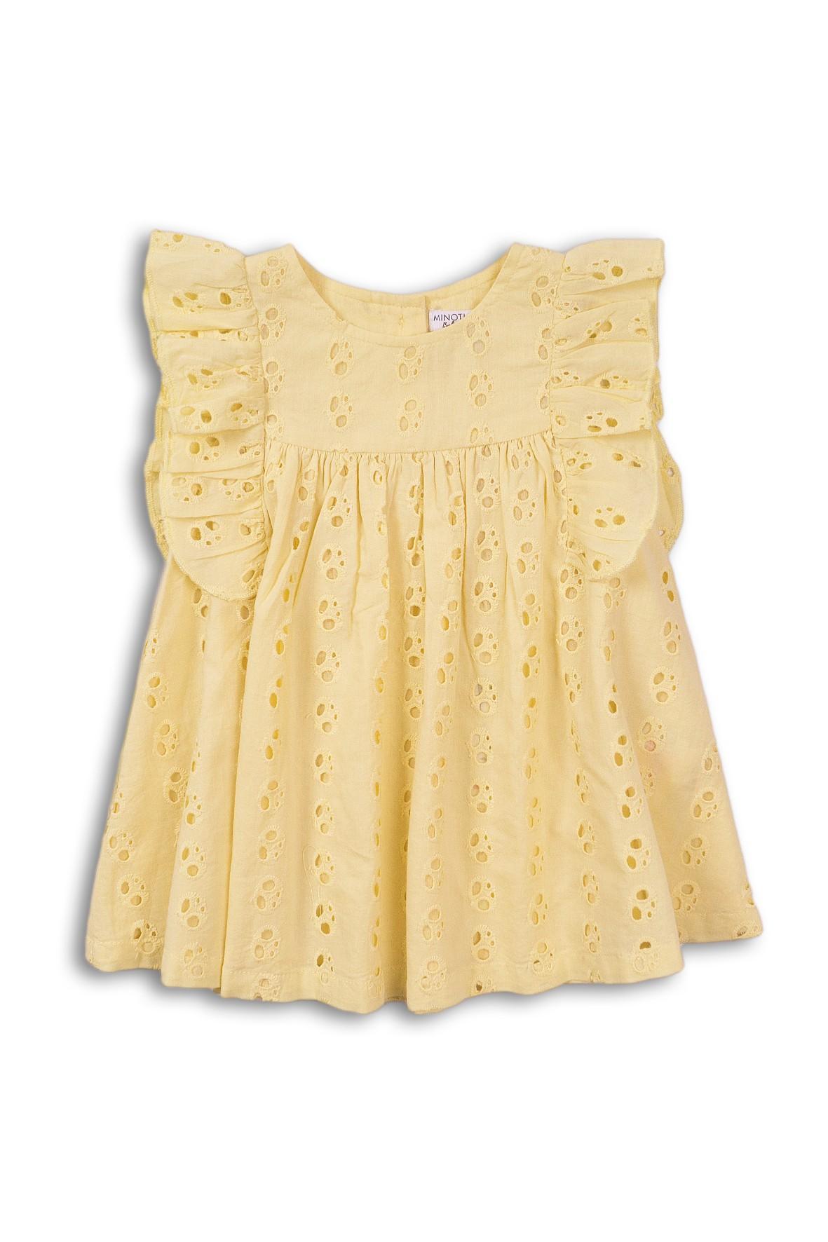 Sukienka dziewczęca żółta