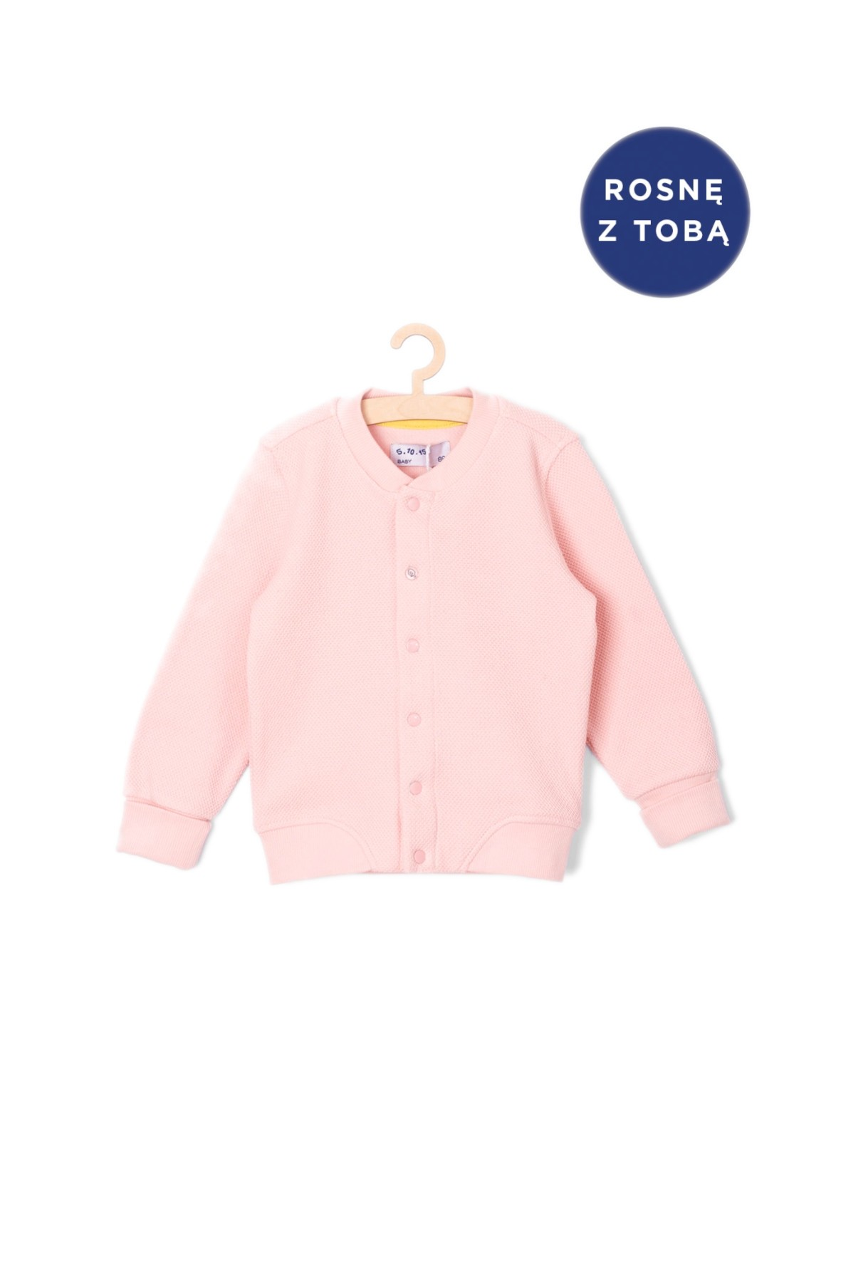 Bluza dresowa niemowlęca - różowa bomberka