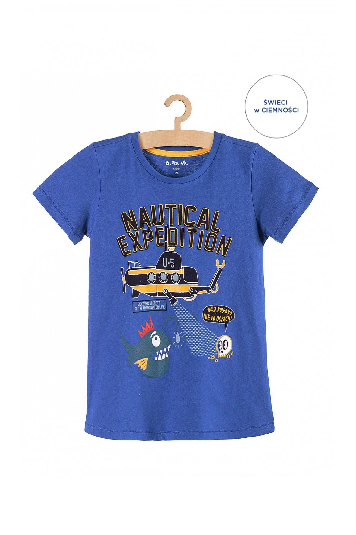 T-shirt chłopięcy z łodzią podwodną