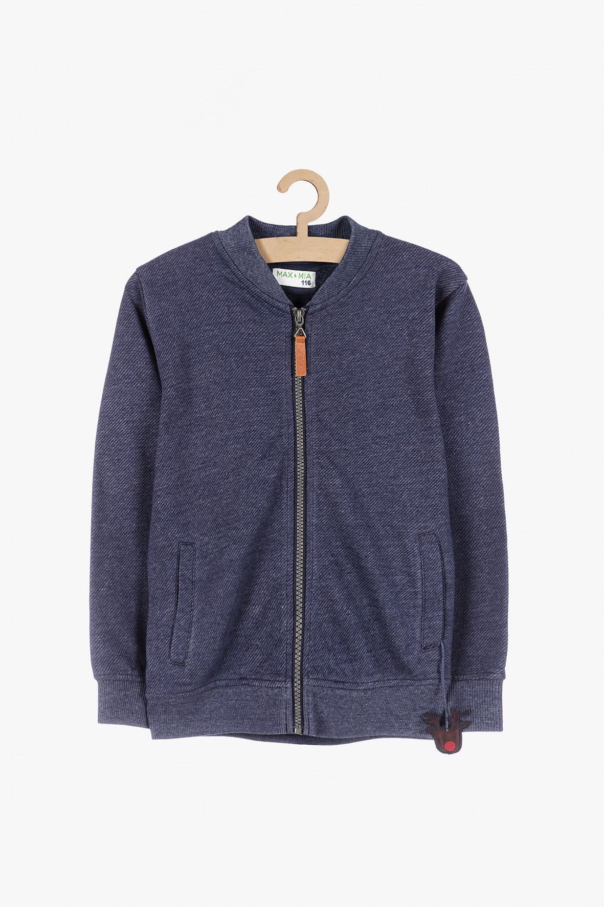 Granatowa bluza dresowa z Reniferem