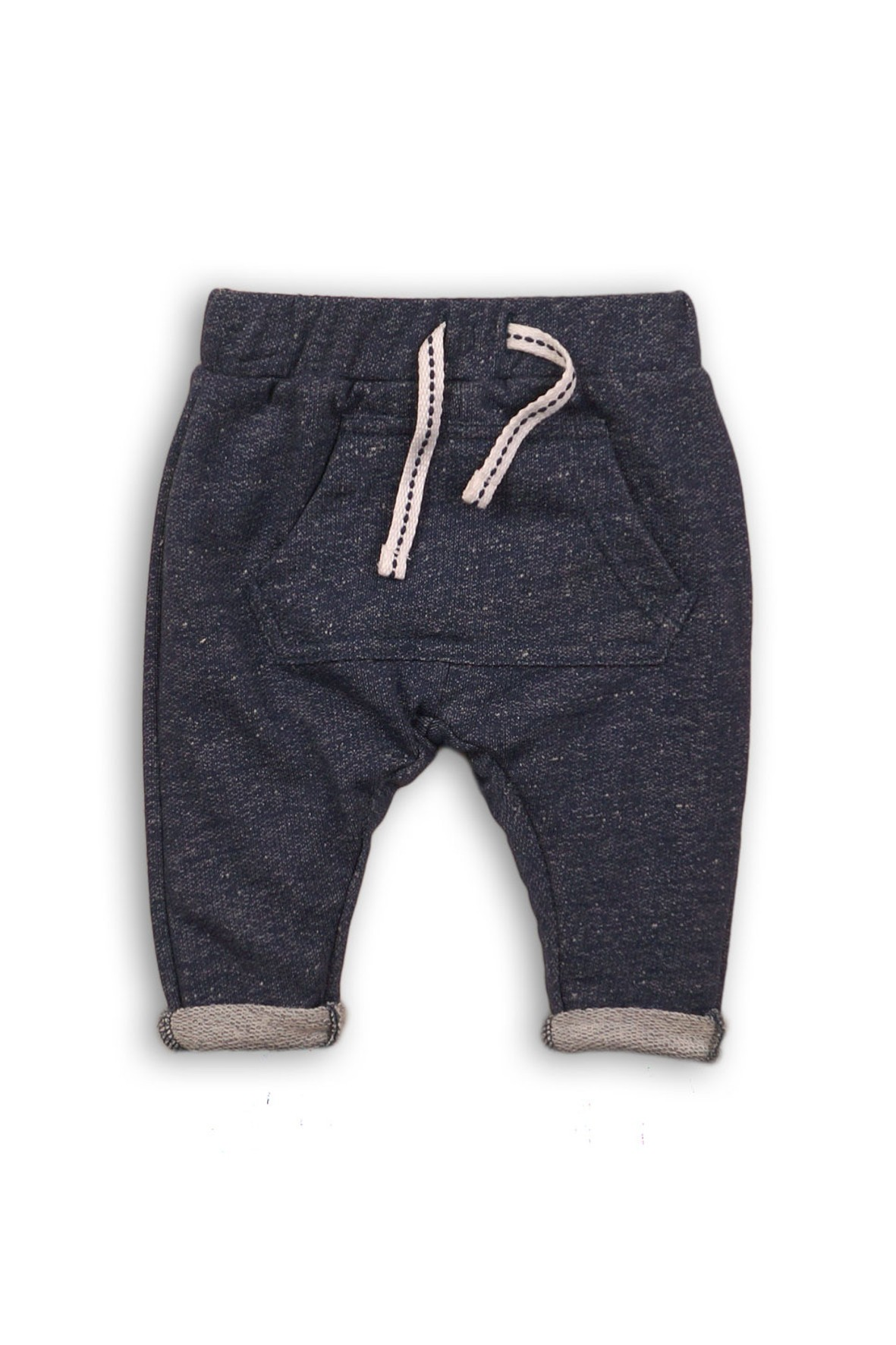 Spodnie dresowe niemowlęce z kieszenią granatowe