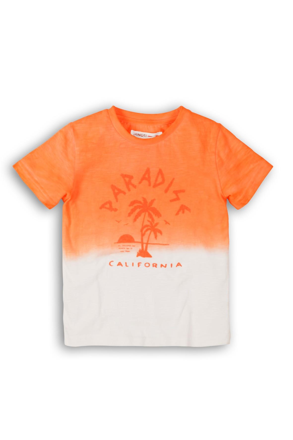 Pomarańczowo-biały t-shirt dla niemowlaka California