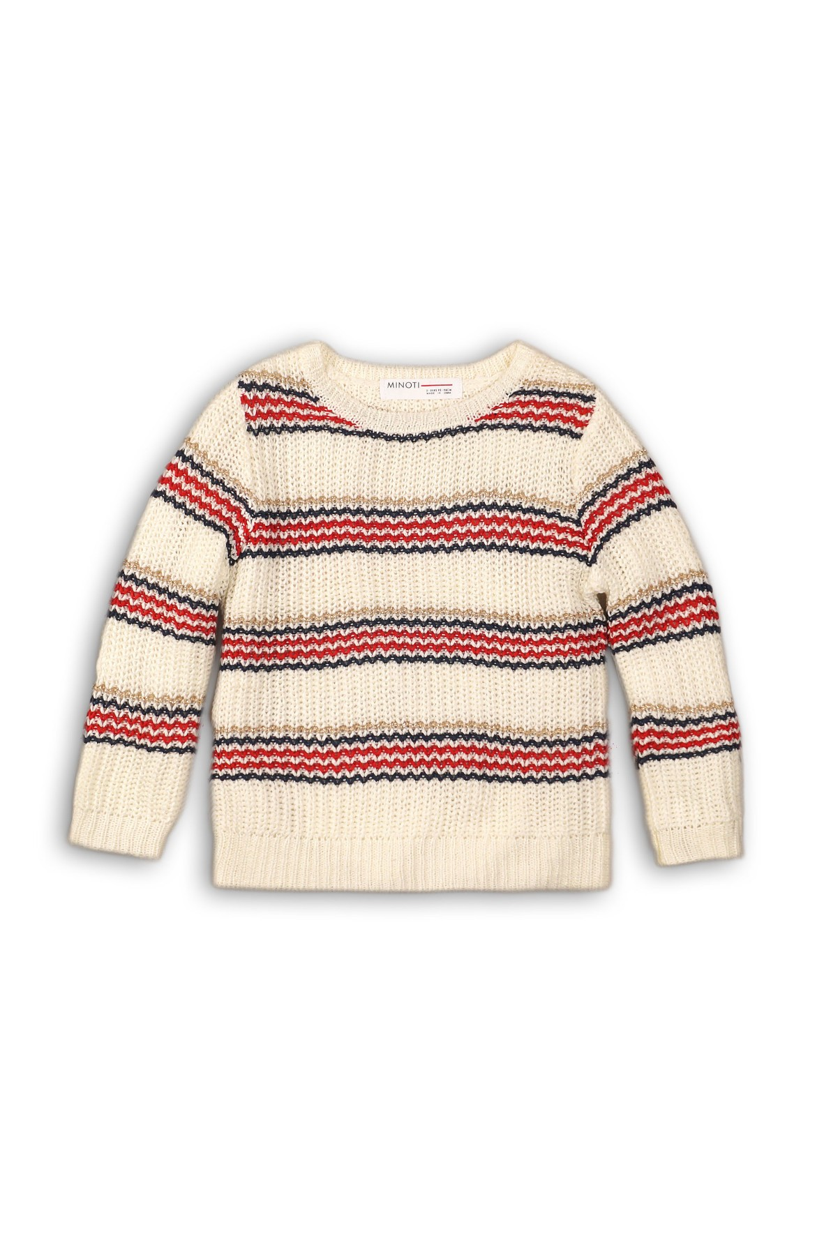 Sweter niemowlęcy w kolorowe paski