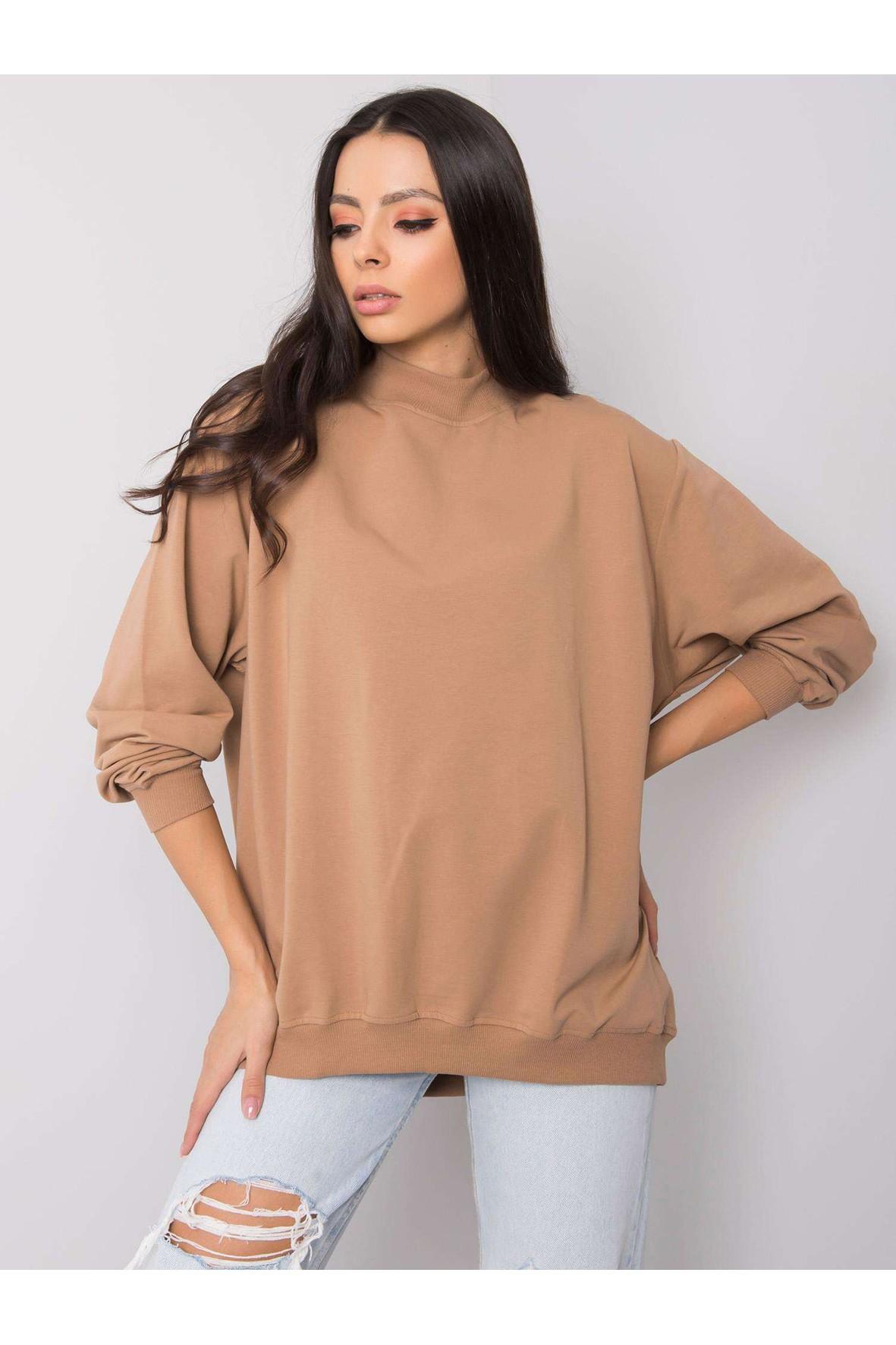Bluza dresowa damska basic - beżowa