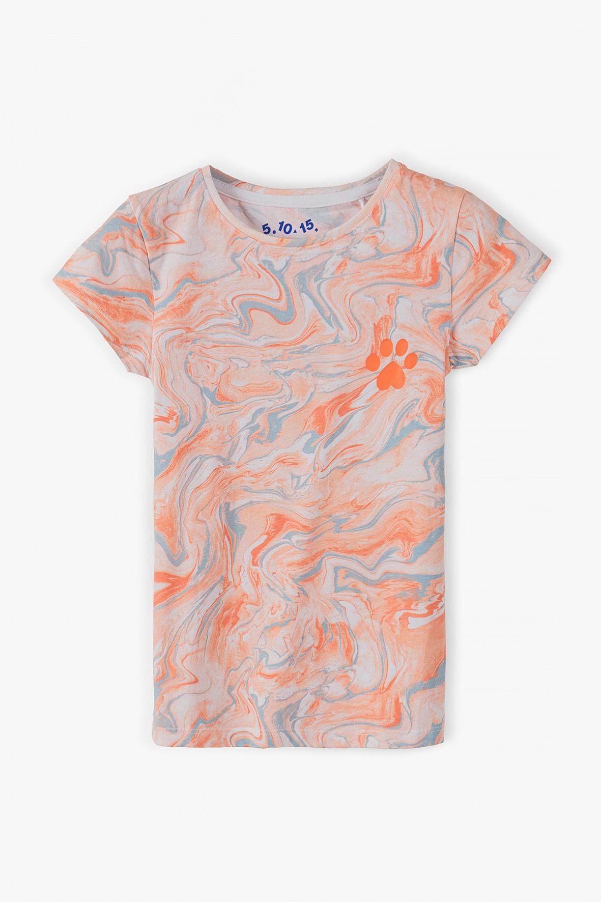 Kolorowy -tshirt dla dziewczynki