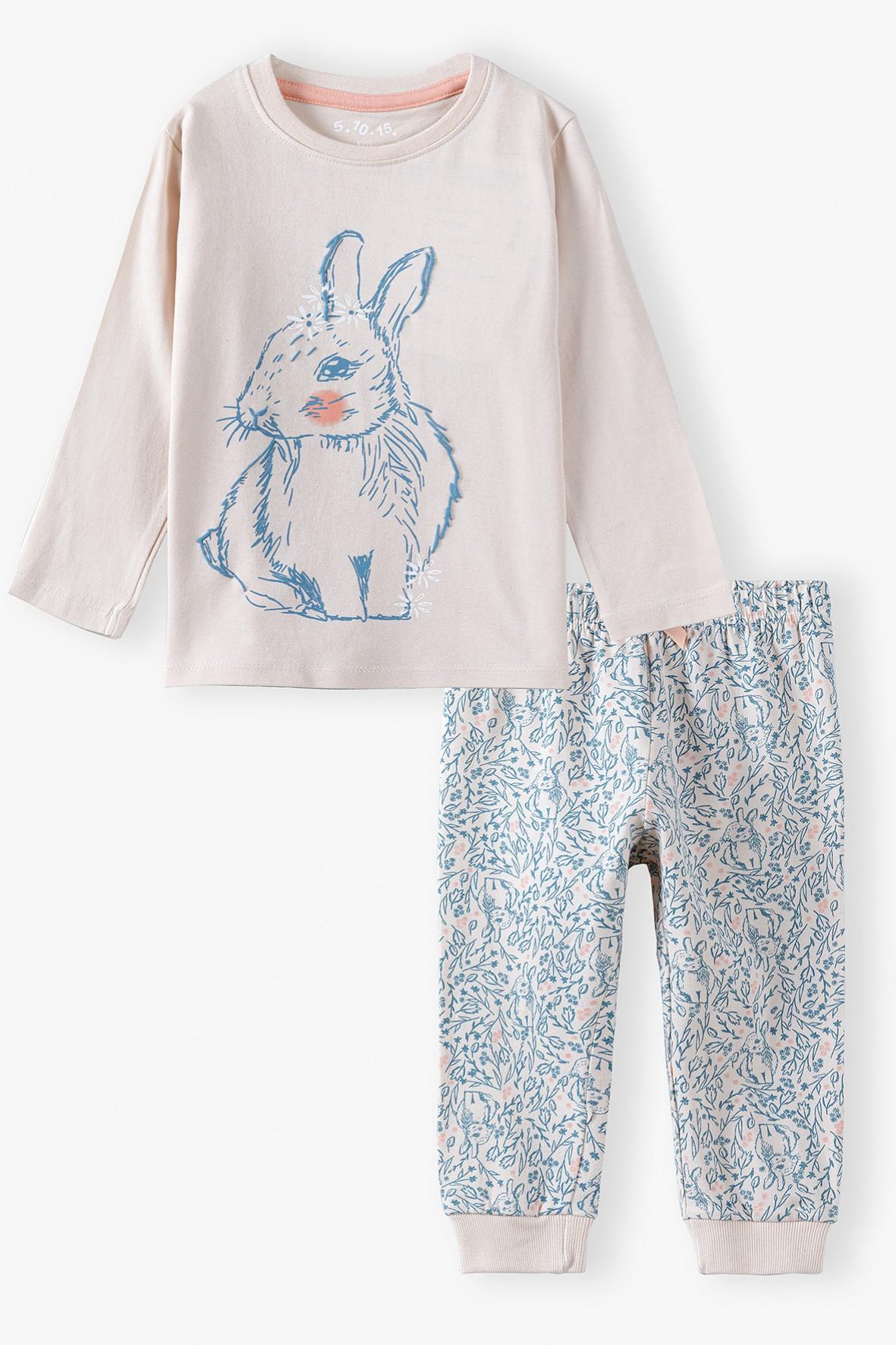 Bawełniana piżama z króliczkiem