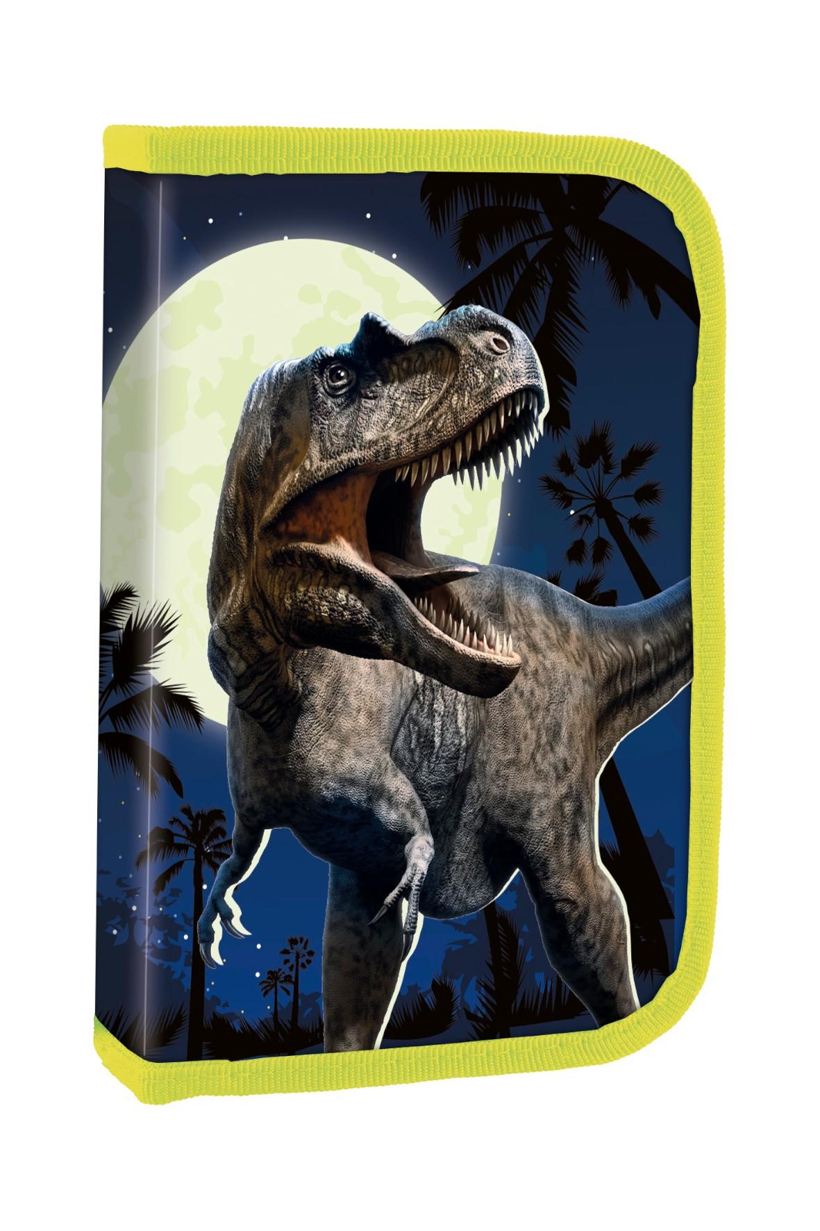 Piórnik z wyposażeniem - dinozaur