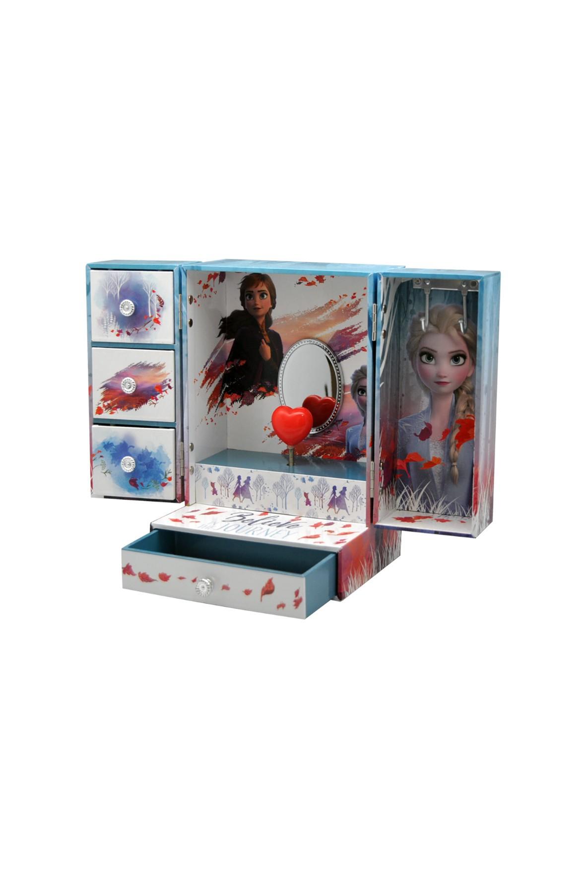 Pudełko na biżuterię Frozen oraz lusterkiem, brokatem i efektami dźwiękowymi