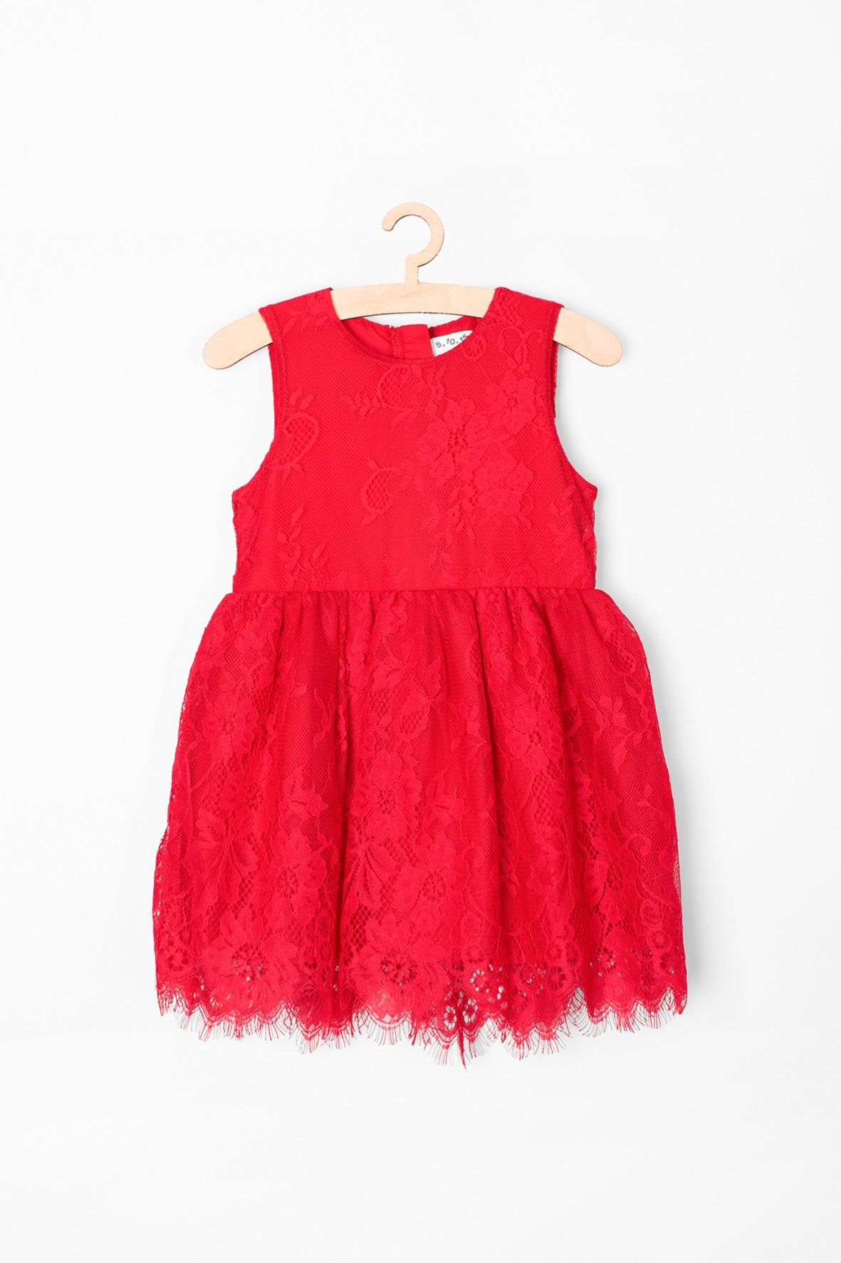 Sukienka niemowlęca czerwona