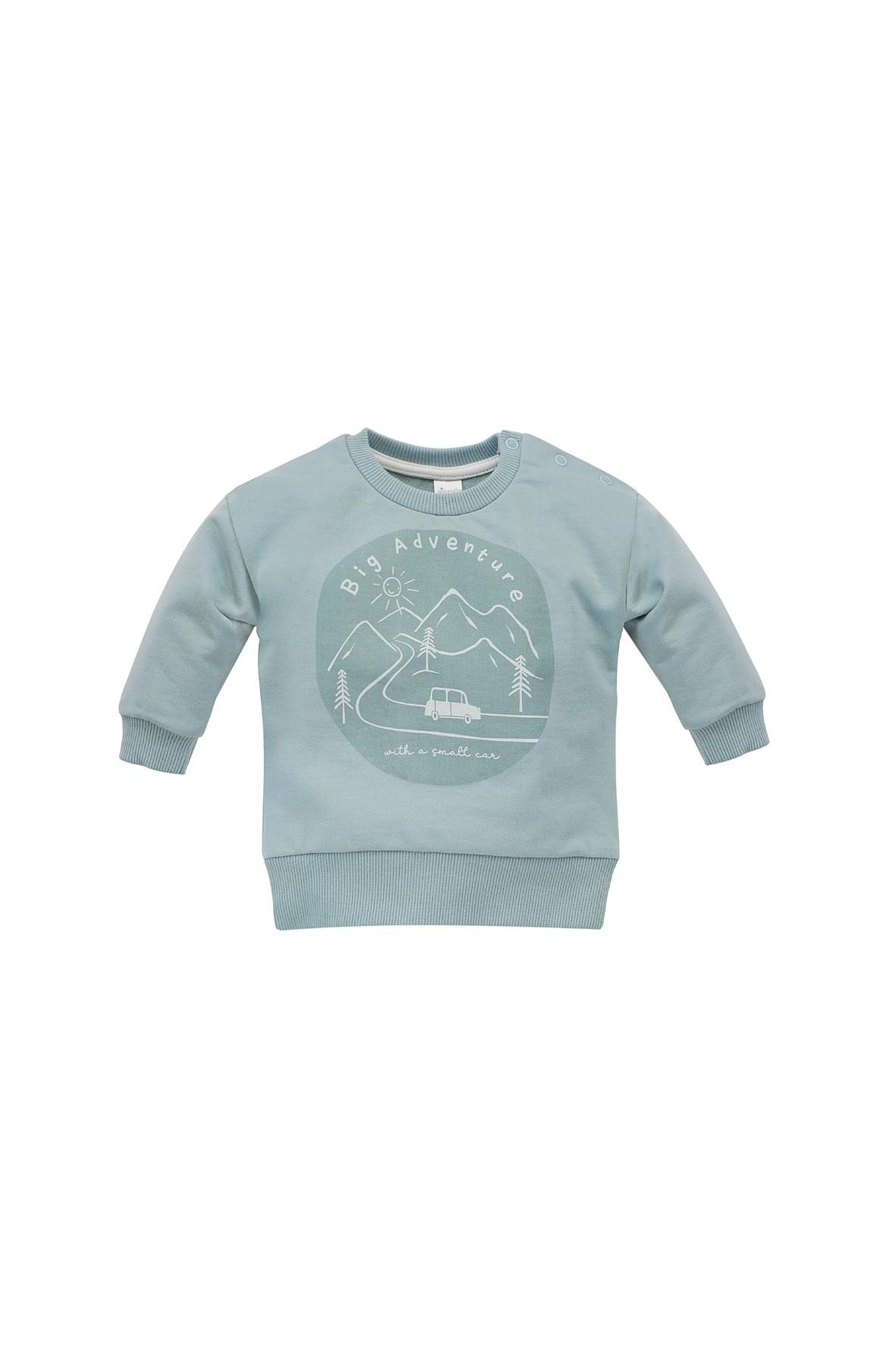 Bluza dresowa Little Car - miętowa