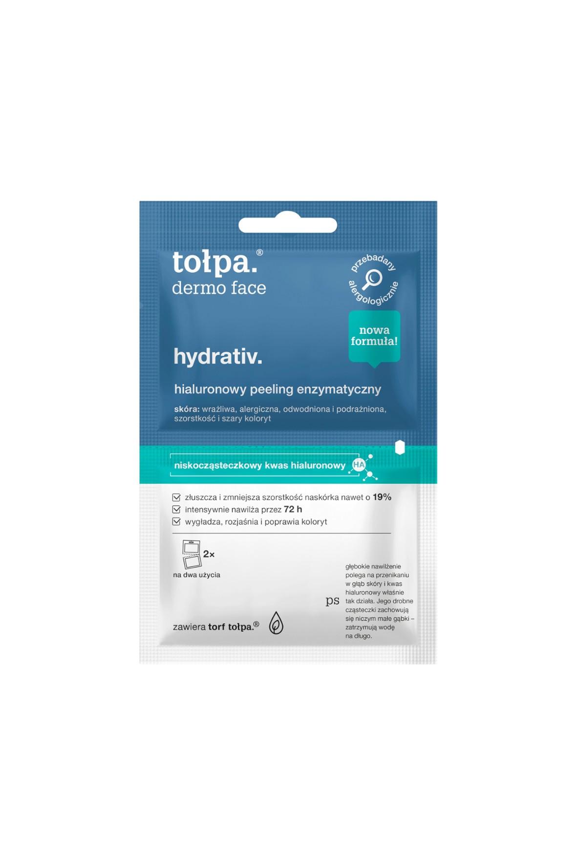 Tołpa dermo face hydrativ. hialuronowy peeling enzymatyczny 2x6 ml