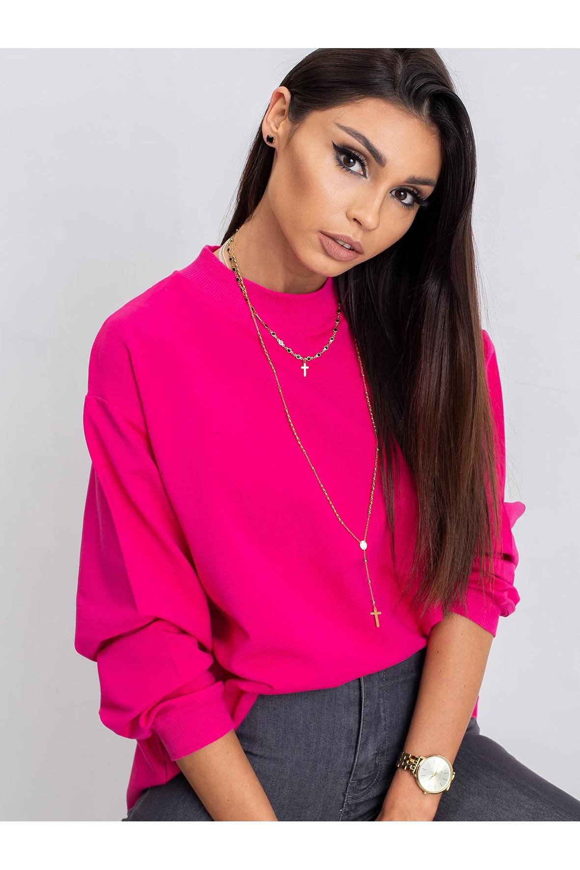 Bluza damska dresowa basic - różowa